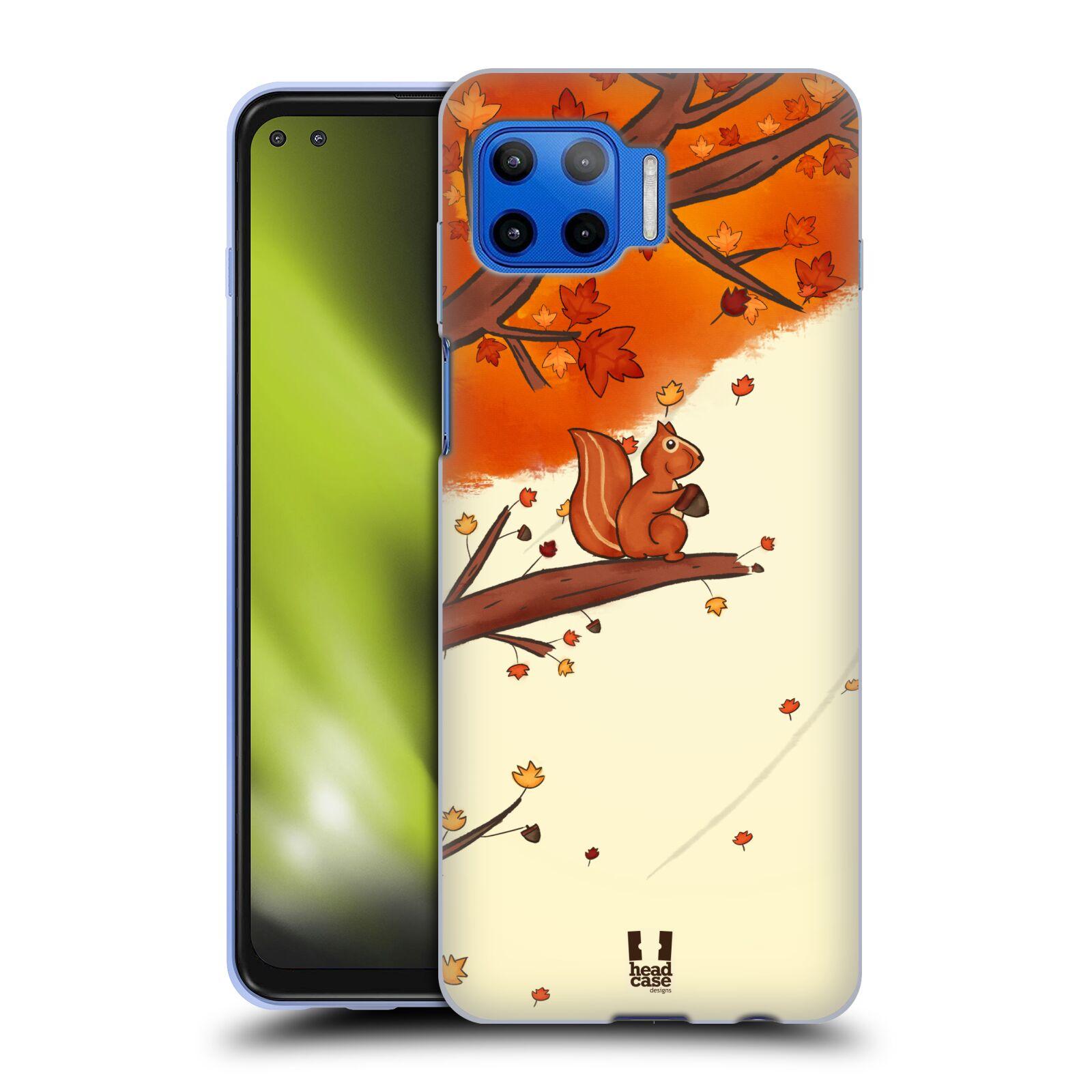 Silikonové pouzdro na mobil Motorola Moto G 5G Plus - Head Case - PODZIMNÍ VEVERKA