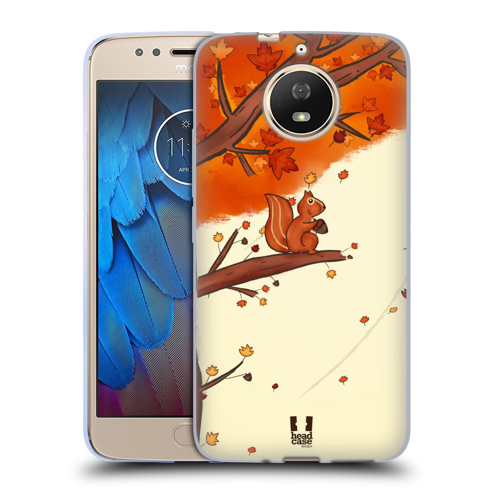 Silikonové pouzdro na mobil Lenovo Moto G5s - Head Case - PODZIMNÍ VEVERKA