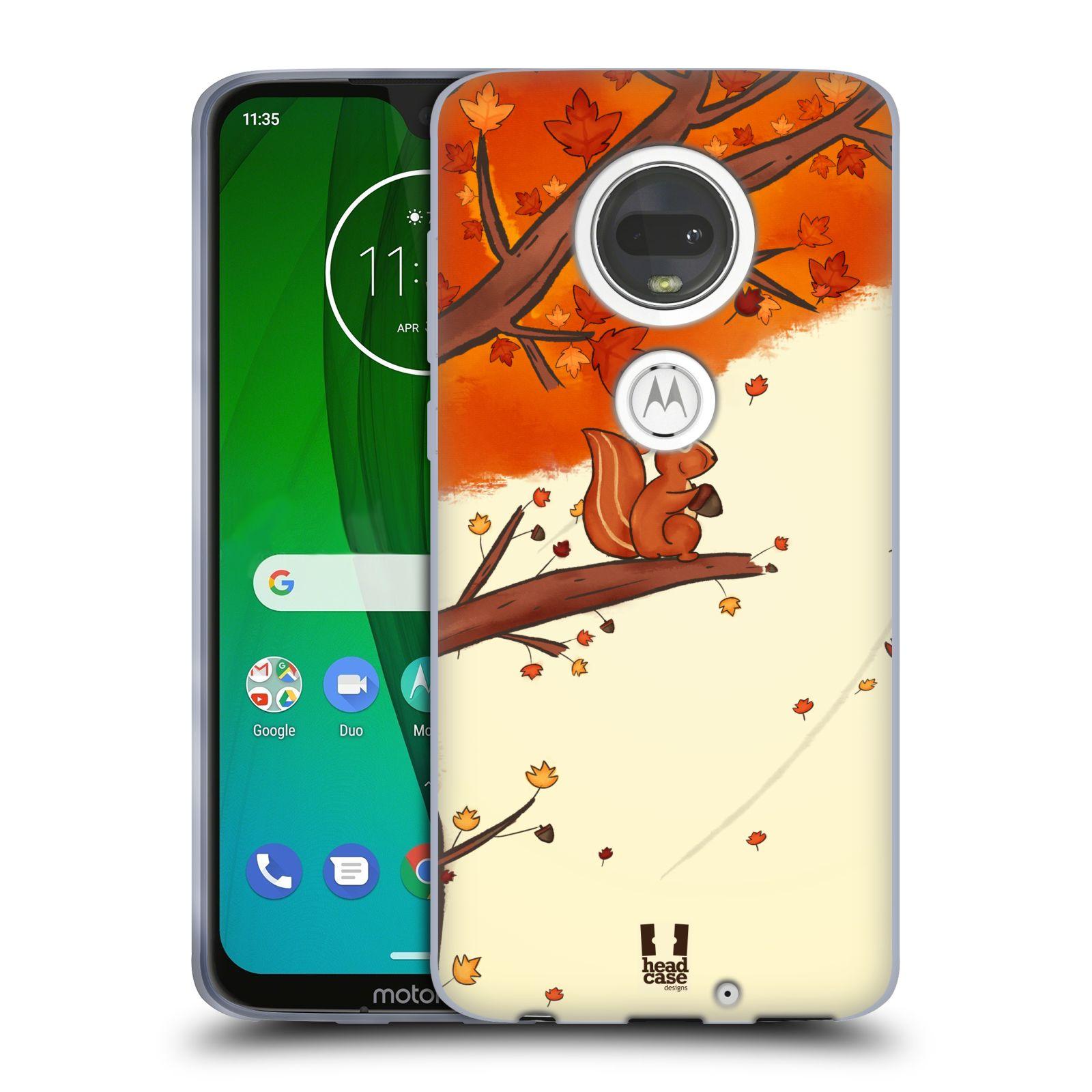 Silikonové pouzdro na mobil Motorola Moto G7 - Head Case - PODZIMNÍ VEVERKA