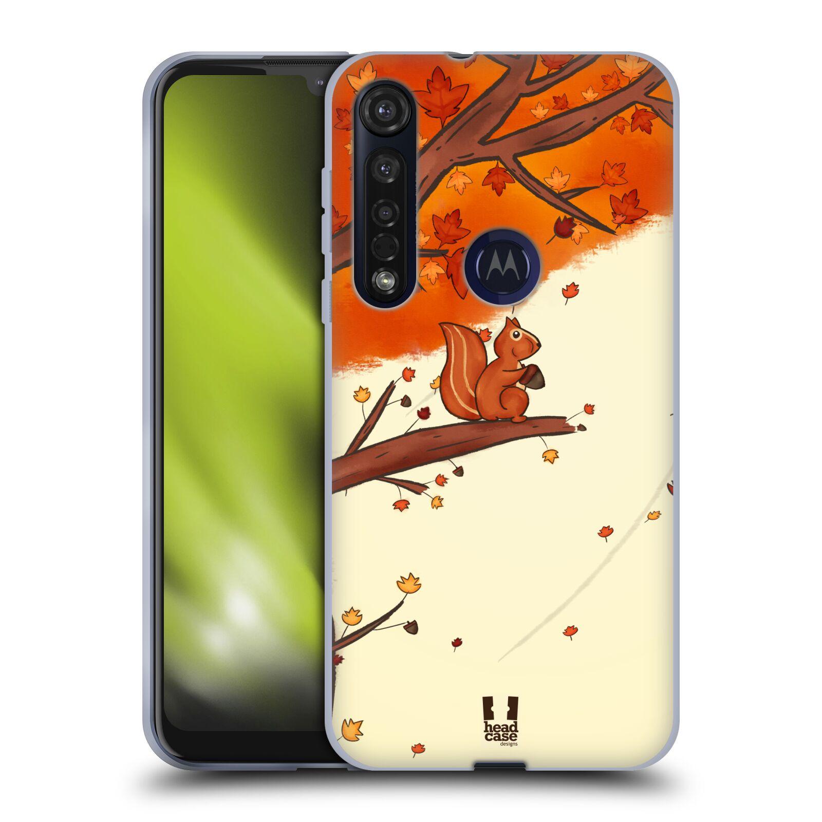 Silikonové pouzdro na mobil Motorola Moto G8 Plus - Head Case - PODZIMNÍ VEVERKA