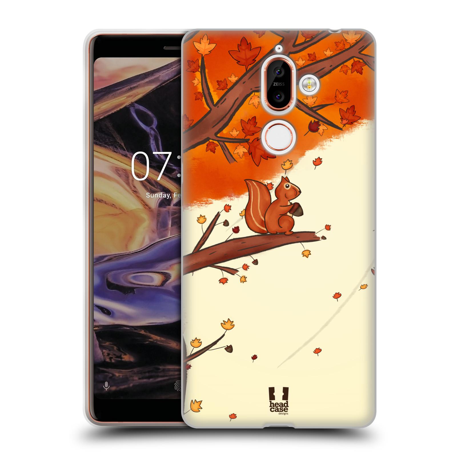 Silikonové pouzdro na mobil Nokia 7 Plus - Head Case - PODZIMNÍ VEVERKA