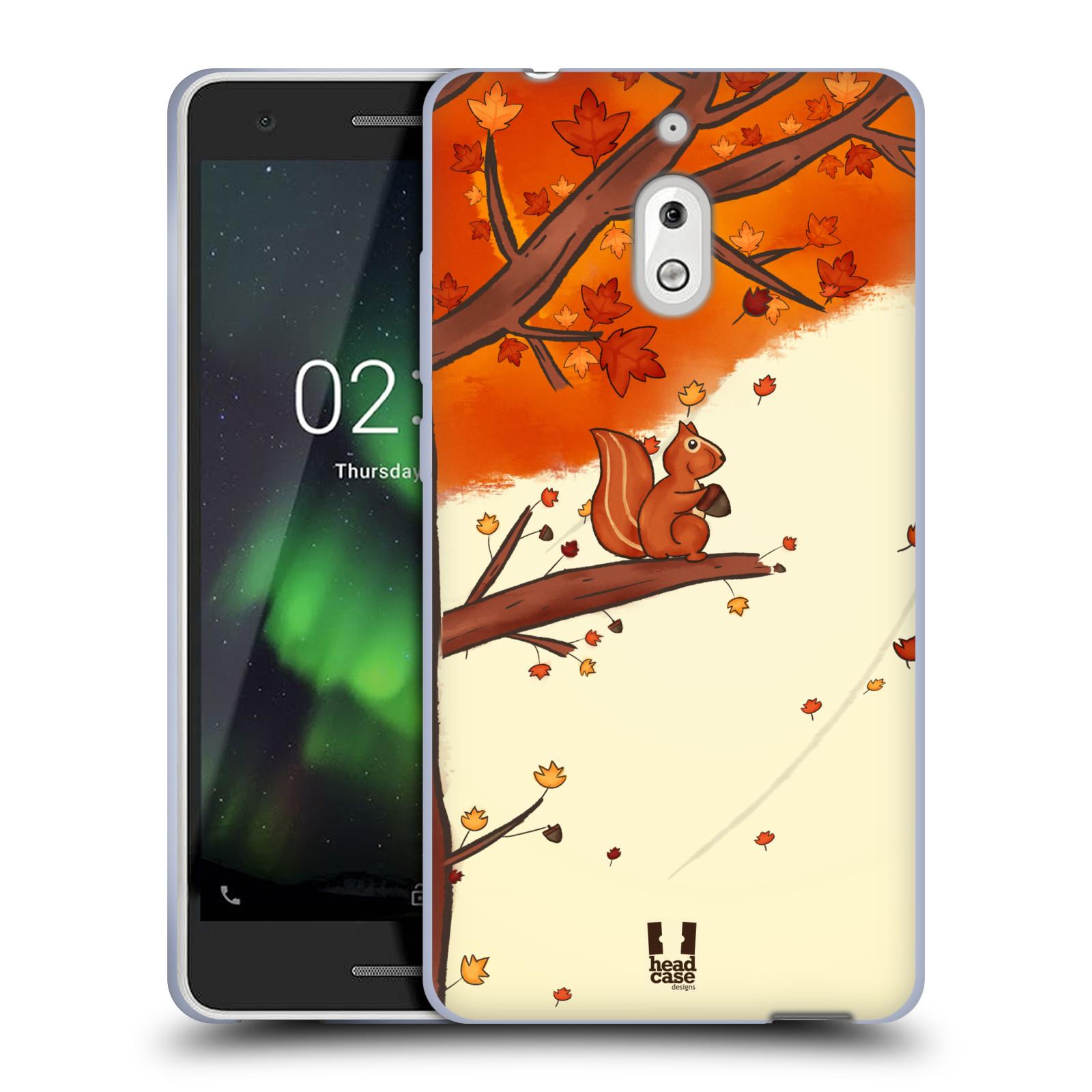 Silikonové pouzdro na mobil Nokia 2.1 - Head Case - PODZIMNÍ VEVERKA