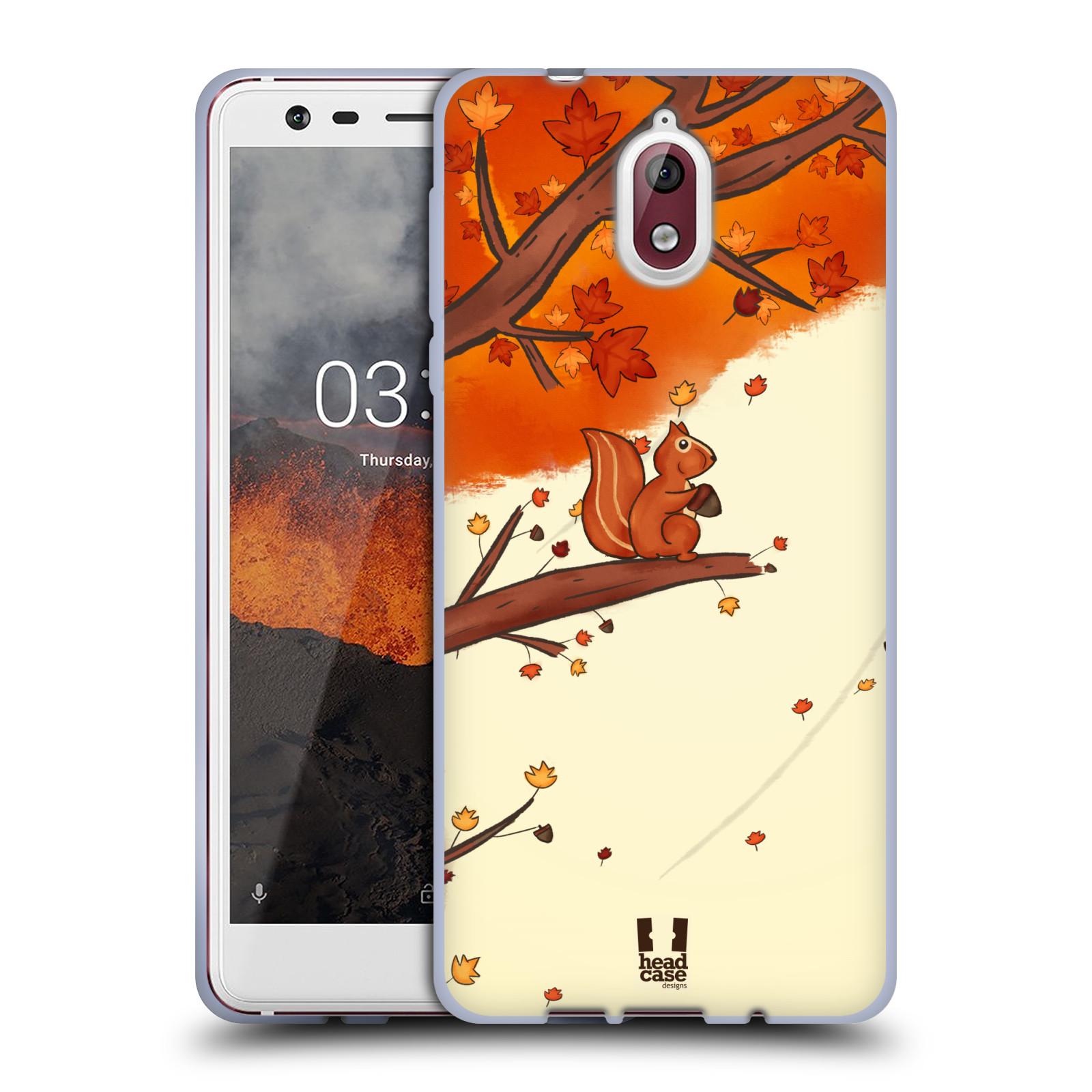 Silikonové pouzdro na mobil Nokia 3.1 - Head Case - PODZIMNÍ VEVERKA