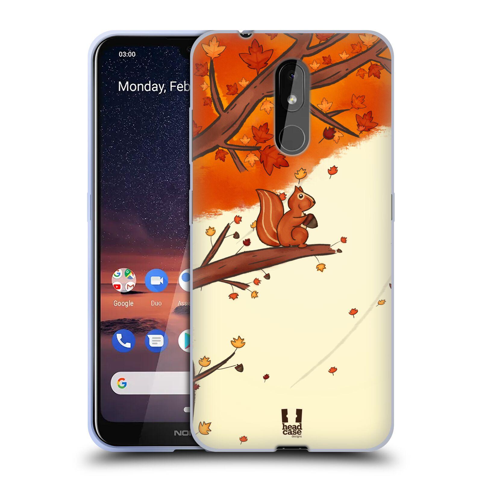 Silikonové pouzdro na mobil Nokia 3.2 - Head Case - PODZIMNÍ VEVERKA