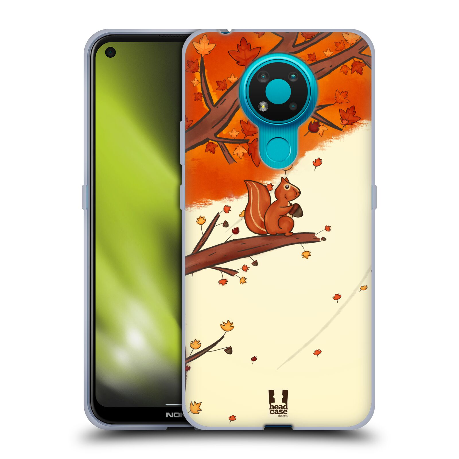 Silikonové pouzdro na mobil Nokia 3.4 - Head Case - PODZIMNÍ VEVERKA