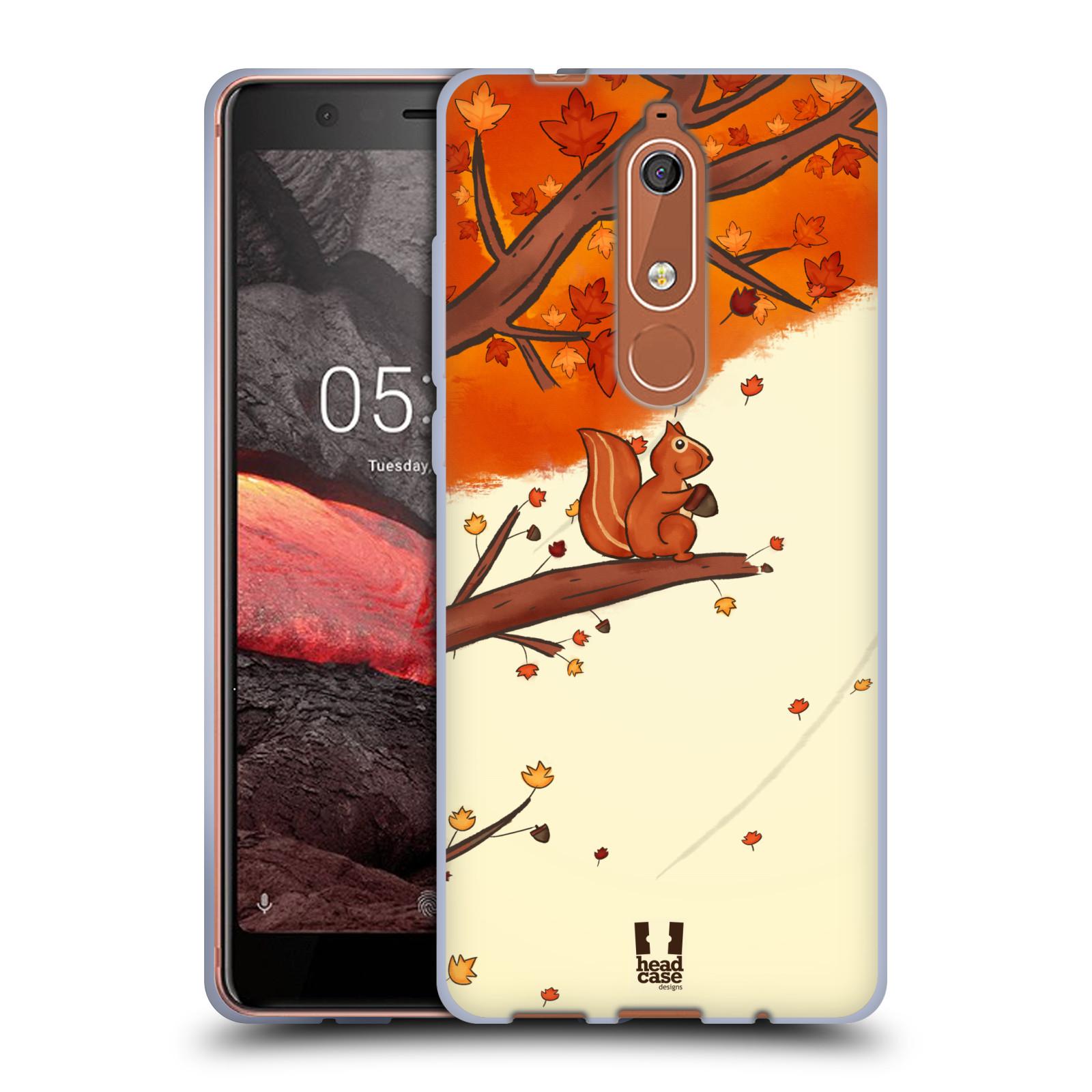 Silikonové pouzdro na mobil Nokia 5.1 - Head Case - PODZIMNÍ VEVERKA