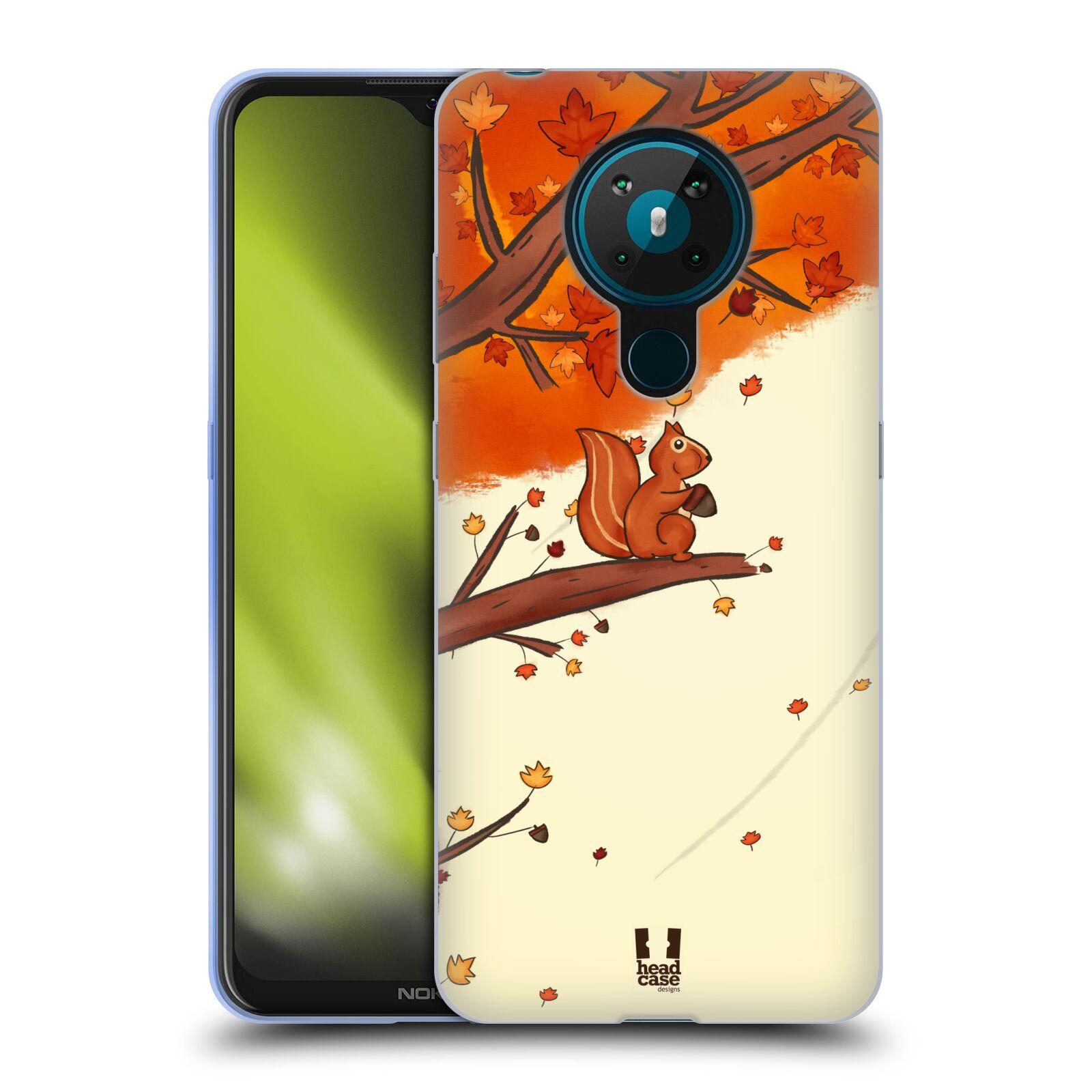 Silikonové pouzdro na mobil Nokia 5.3 - Head Case - PODZIMNÍ VEVERKA