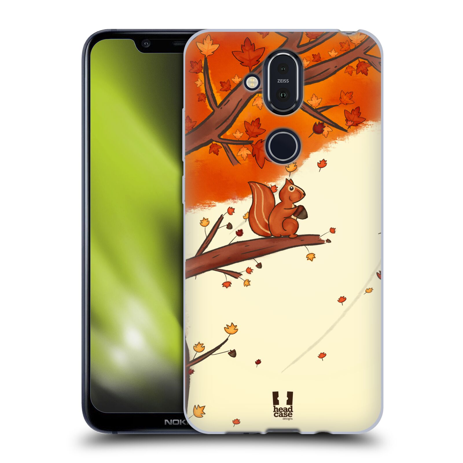 Silikonové pouzdro na mobil Nokia 8.1 - Head Case - PODZIMNÍ VEVERKA