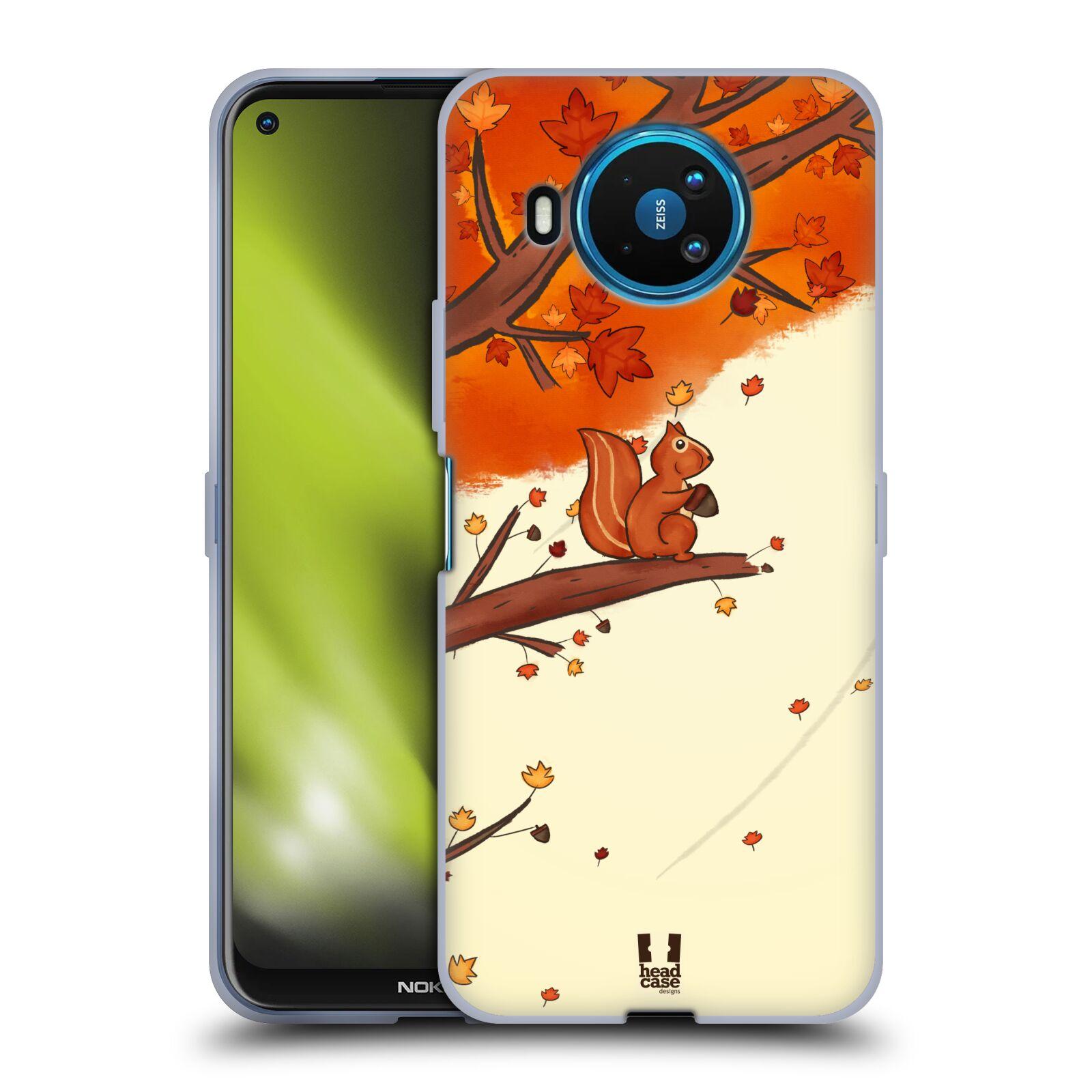 Silikonové pouzdro na mobil Nokia 8.3 5G - Head Case - PODZIMNÍ VEVERKA