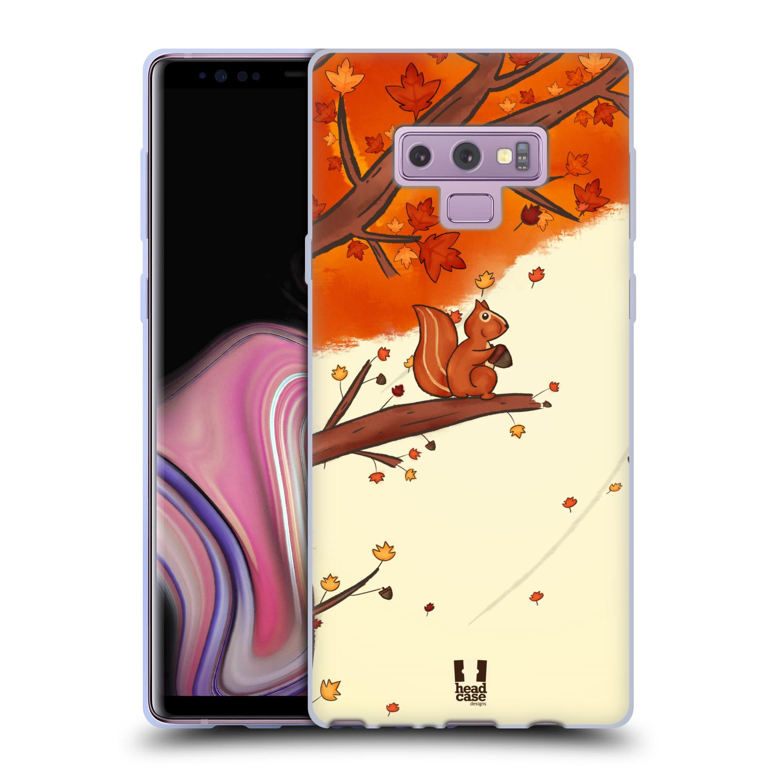 Silikonové pouzdro na mobil Samsung Galaxy Note 9 - Head Case - PODZIMNÍ VEVERKA
