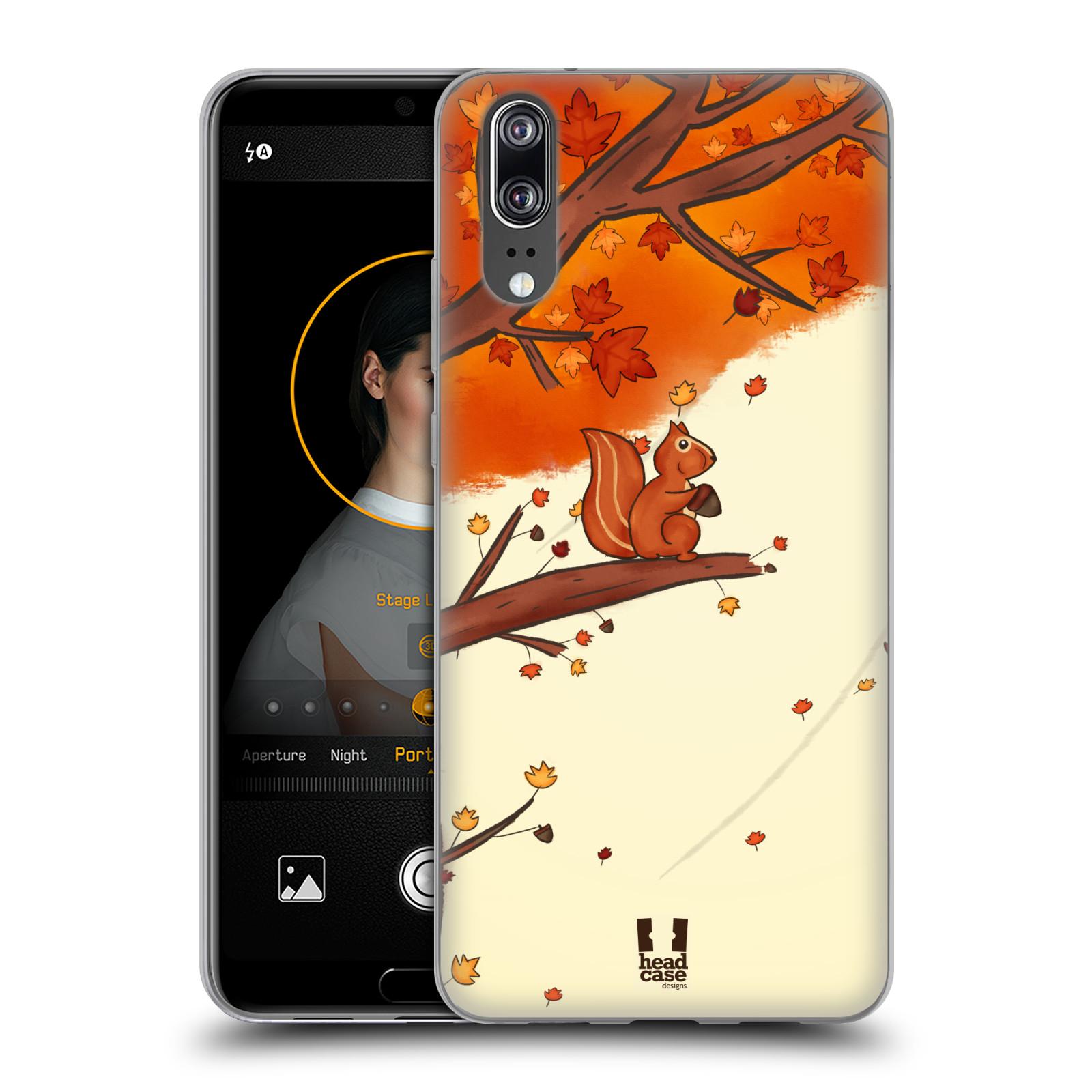 Silikonové pouzdro na mobil Huawei P20 - Head Case - PODZIMNÍ VEVERKA