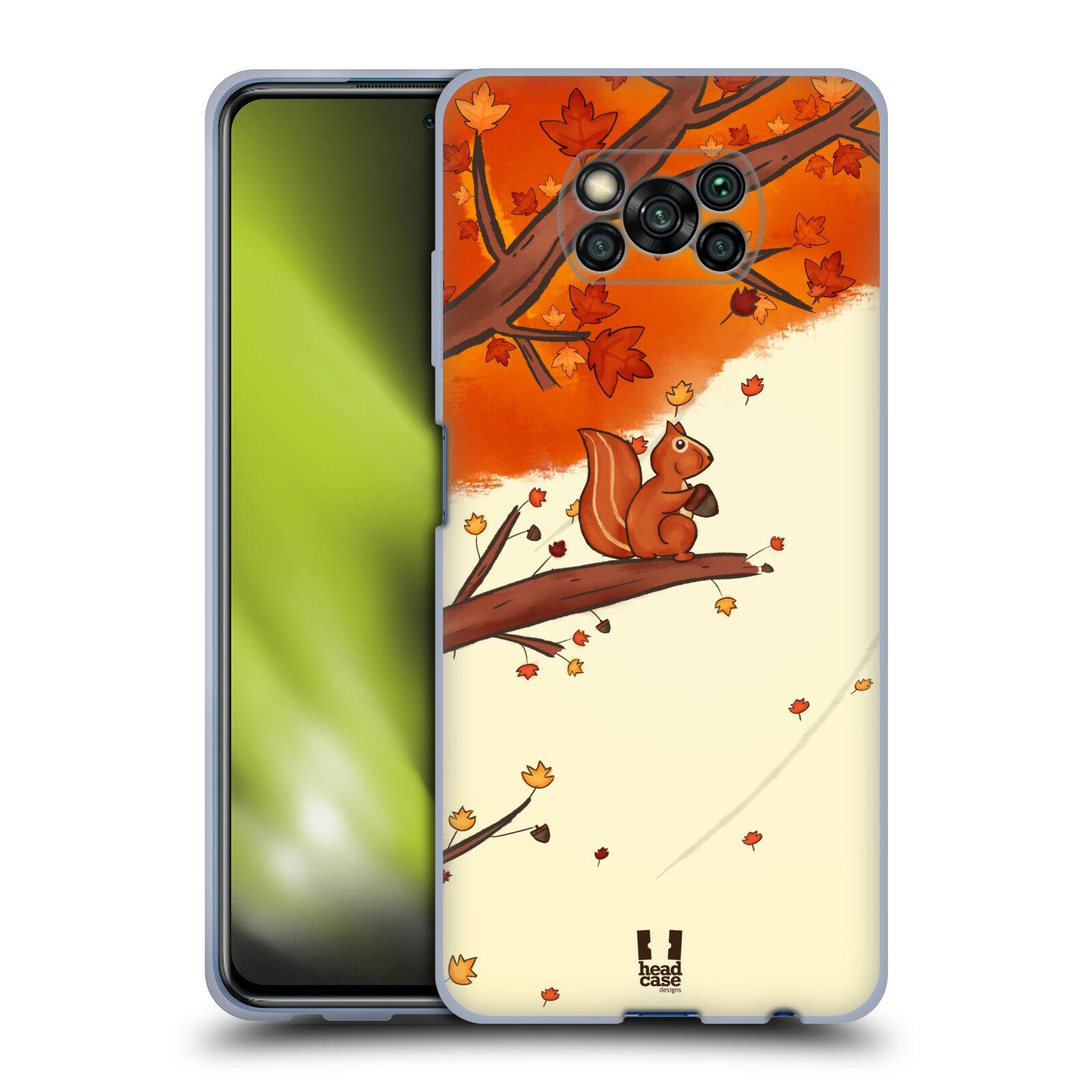 Silikonové pouzdro na mobil Xiaomi Poco X3 NFC - Head Case - PODZIMNÍ VEVERKA