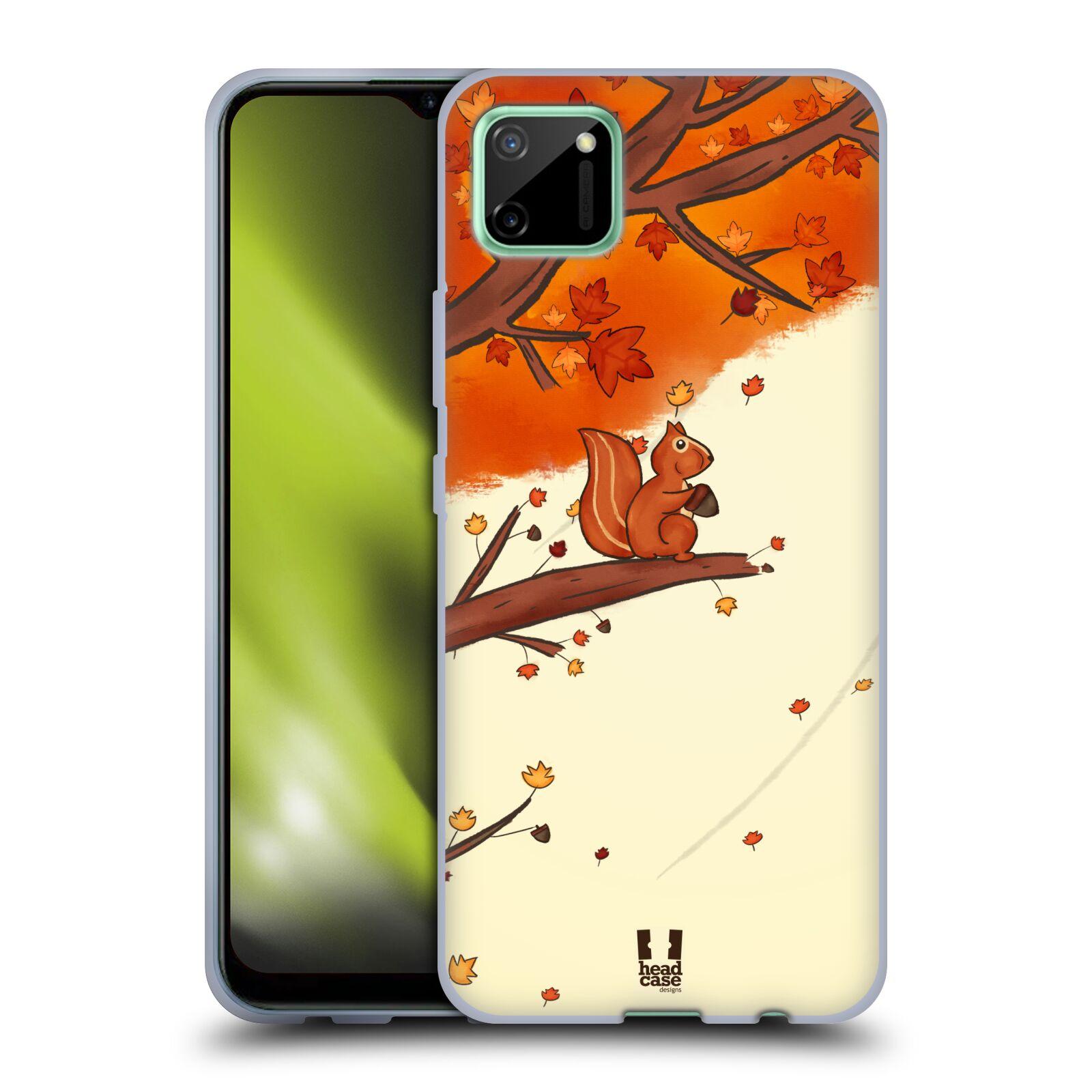 Silikonové pouzdro na mobil Realme C11 - Head Case - PODZIMNÍ VEVERKA