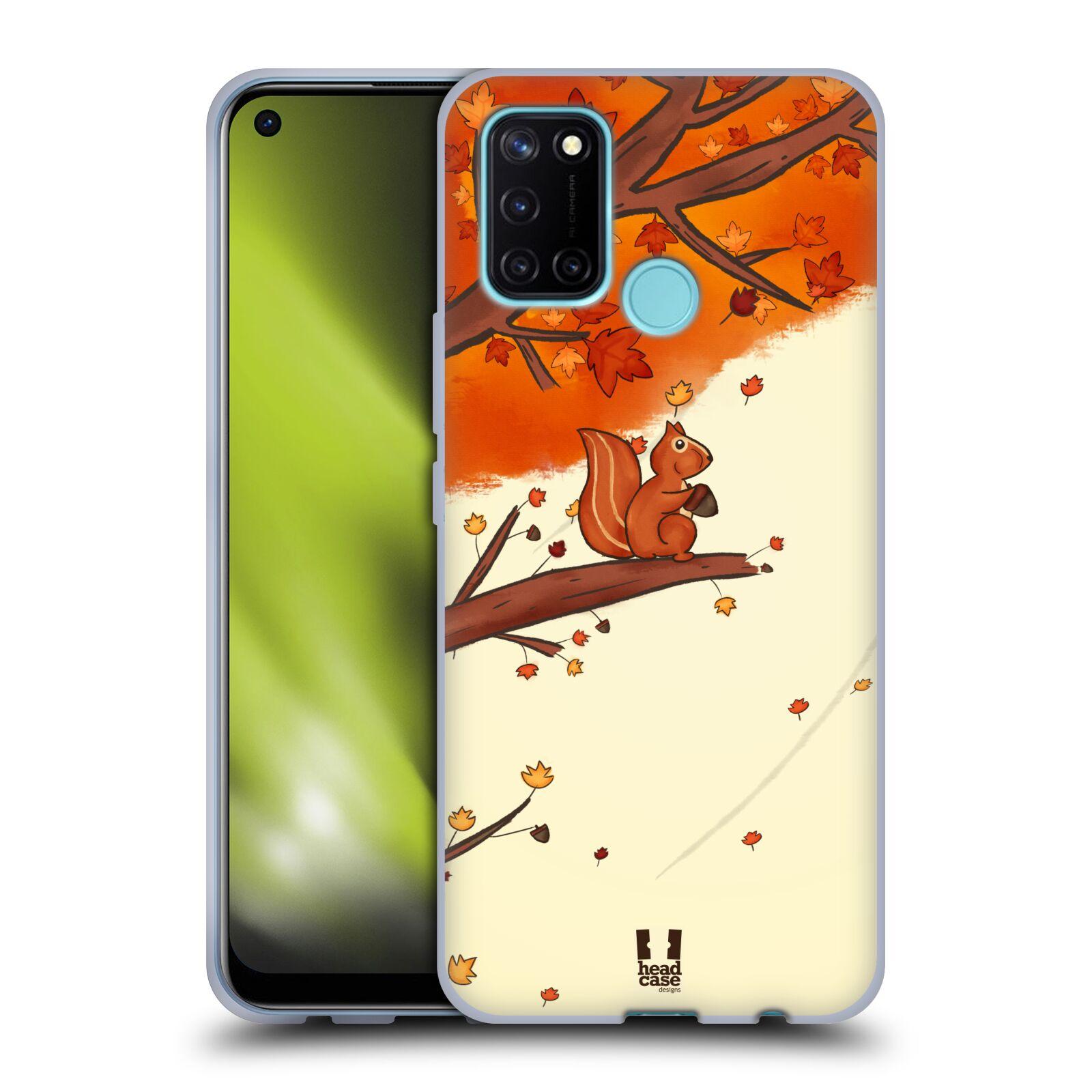 Silikonové pouzdro na mobil Realme 7i - Head Case - PODZIMNÍ VEVERKA