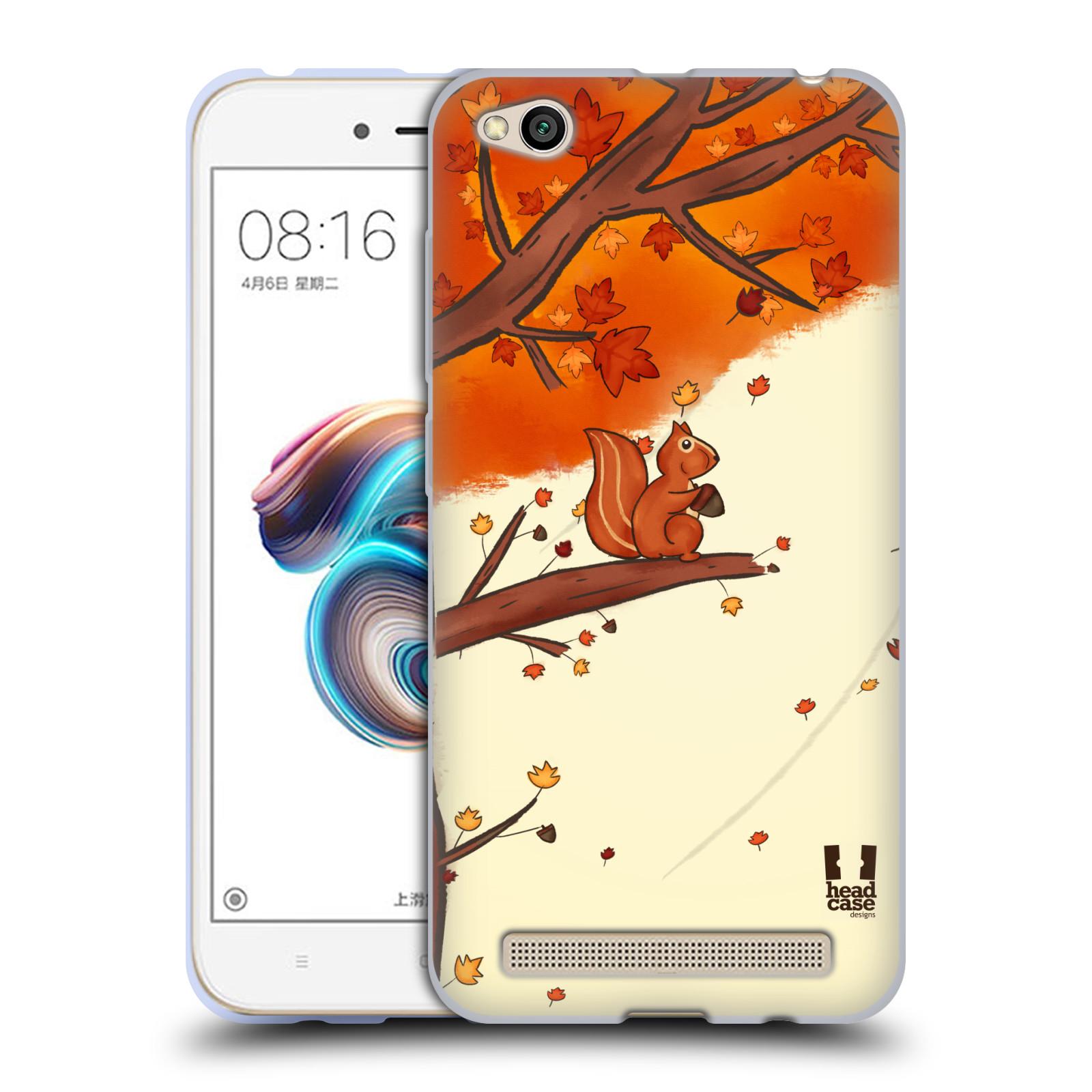 Silikonové pouzdro na mobil Xiaomi Redmi 5A - Head Case - PODZIMNÍ VEVERKA