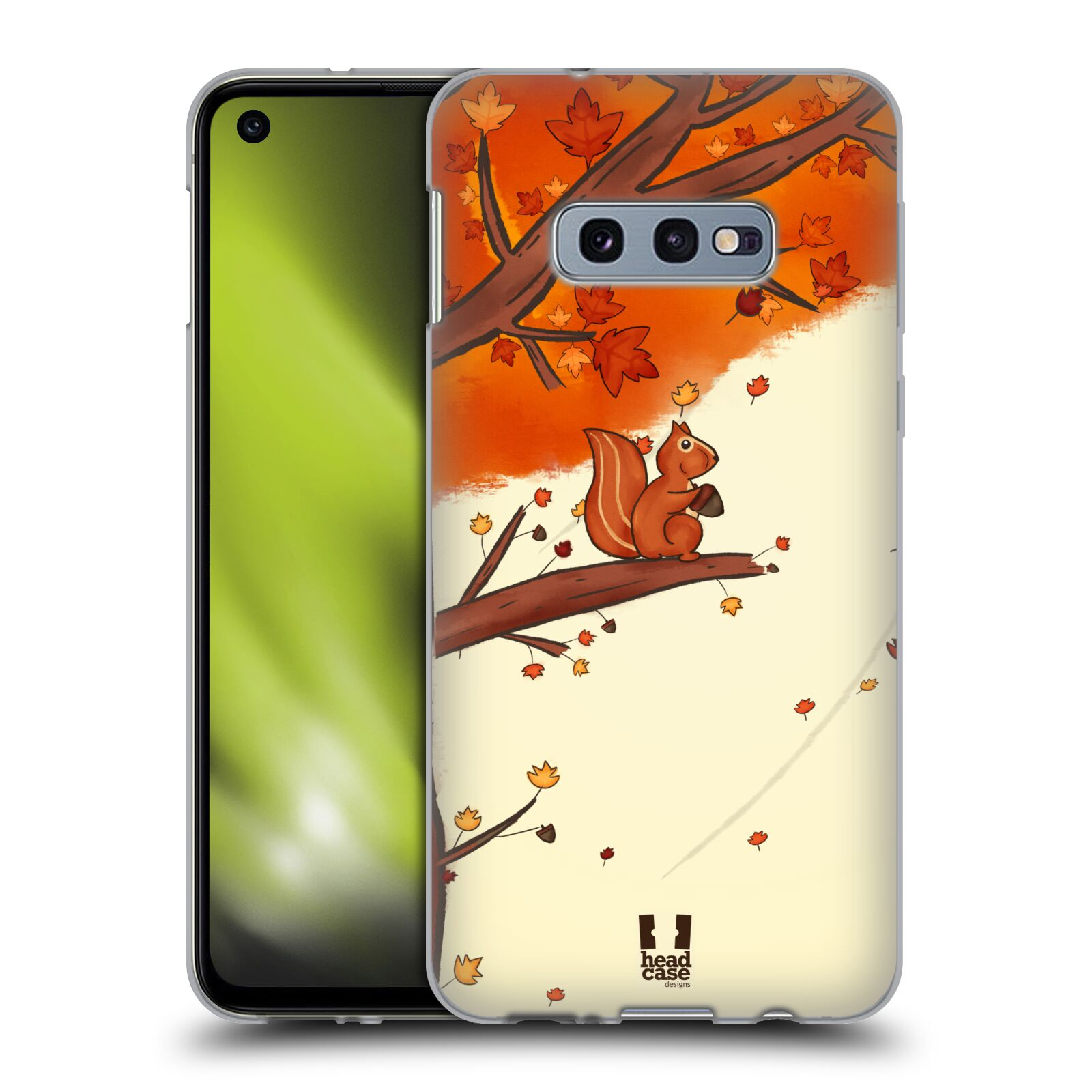 Silikonové pouzdro na mobil Samsung Galaxy S10e - Head Case - PODZIMNÍ VEVERKA