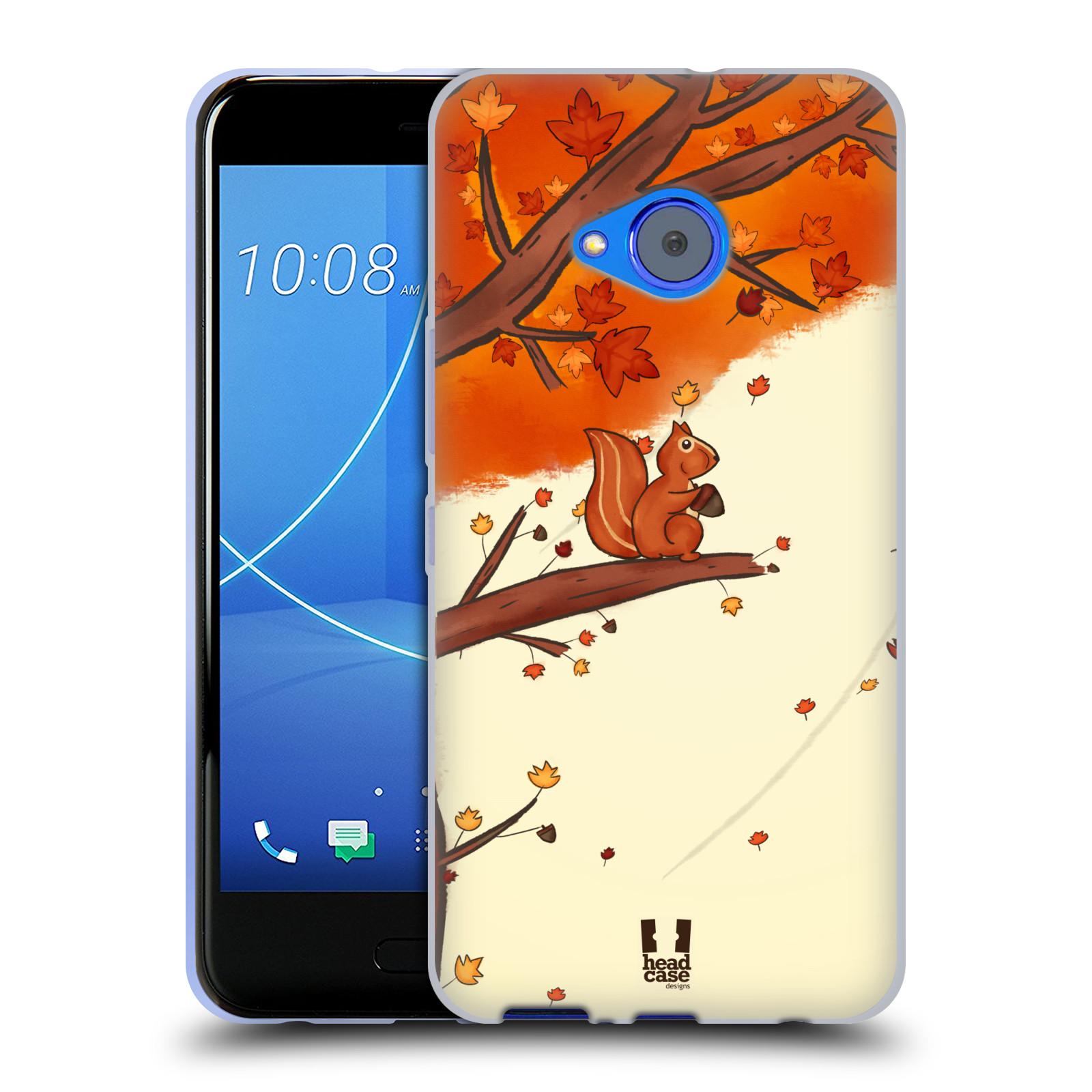 Silikonové pouzdro na mobil HTC U11 Life - Head Case - PODZIMNÍ VEVERKA