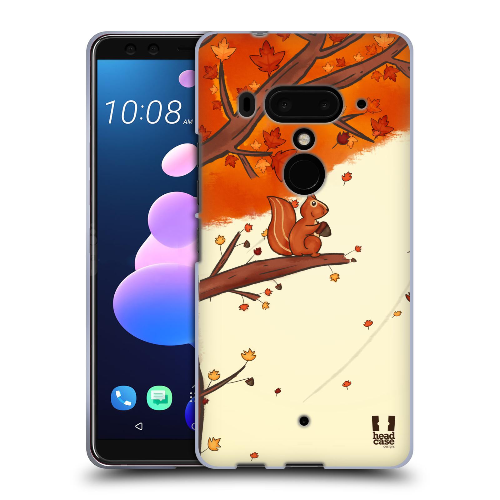 Silikonové pouzdro na mobil HTC U12 Plus - Head Case - PODZIMNÍ VEVERKA