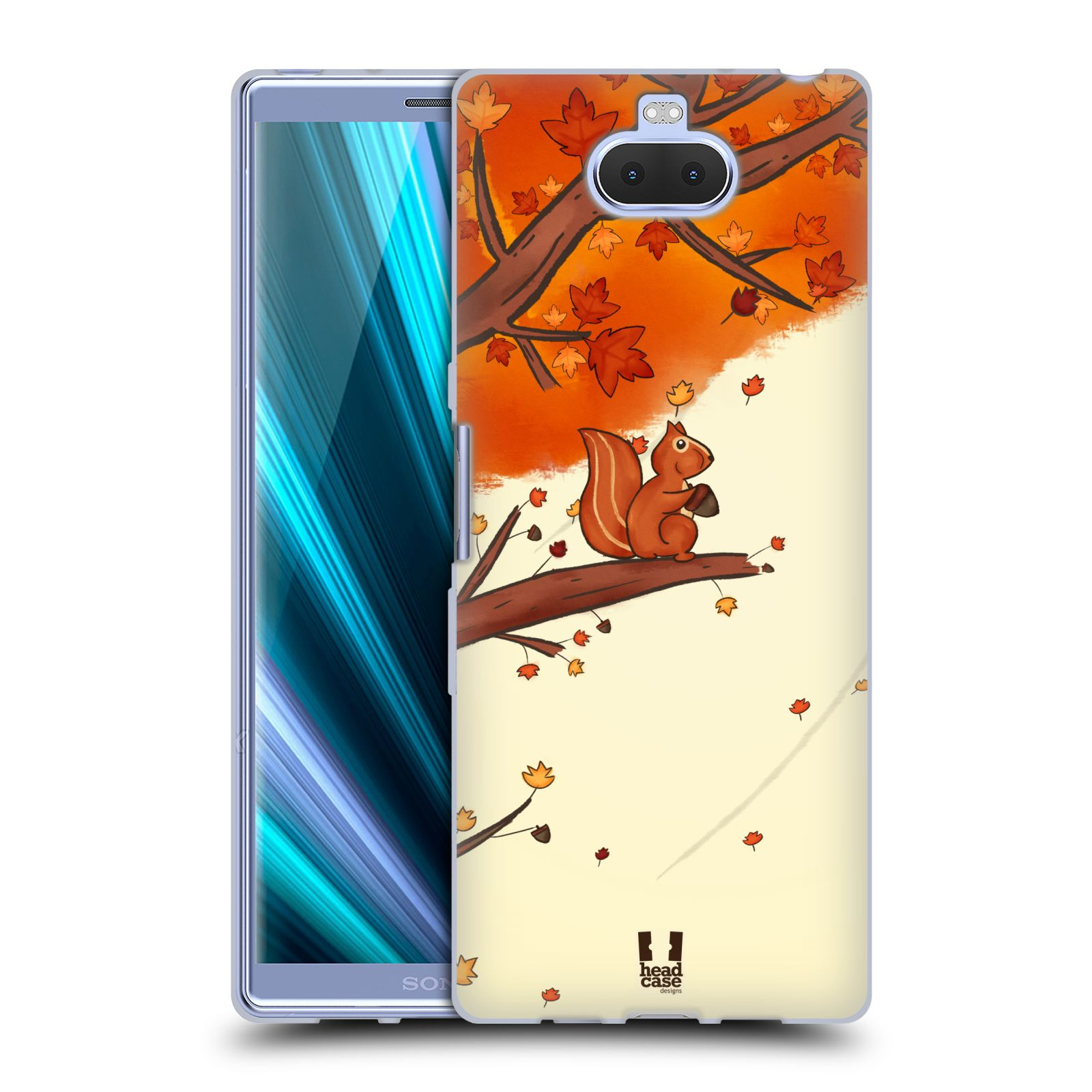 Silikonové pouzdro na mobil Sony Xperia 10 Plus - Head Case - PODZIMNÍ VEVERKA