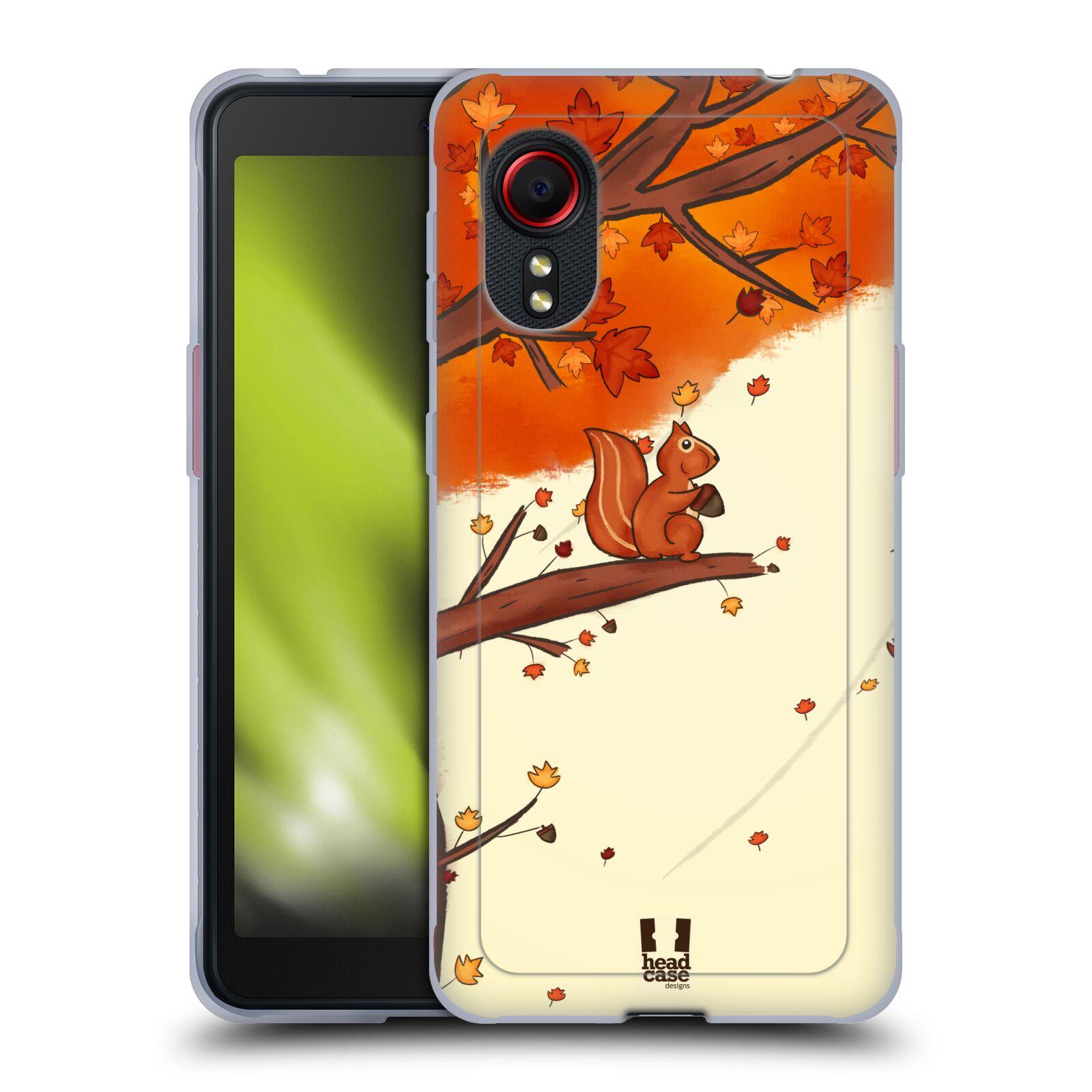 Silikonové pouzdro na mobil Samsung Galaxy Xcover 5 - Head Case - PODZIMNÍ VEVERKA