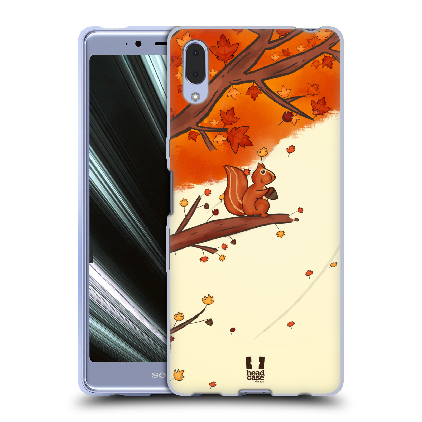 Silikonové pouzdro na mobil Sony Xperia L3 - Head Case - PODZIMNÍ VEVERKA