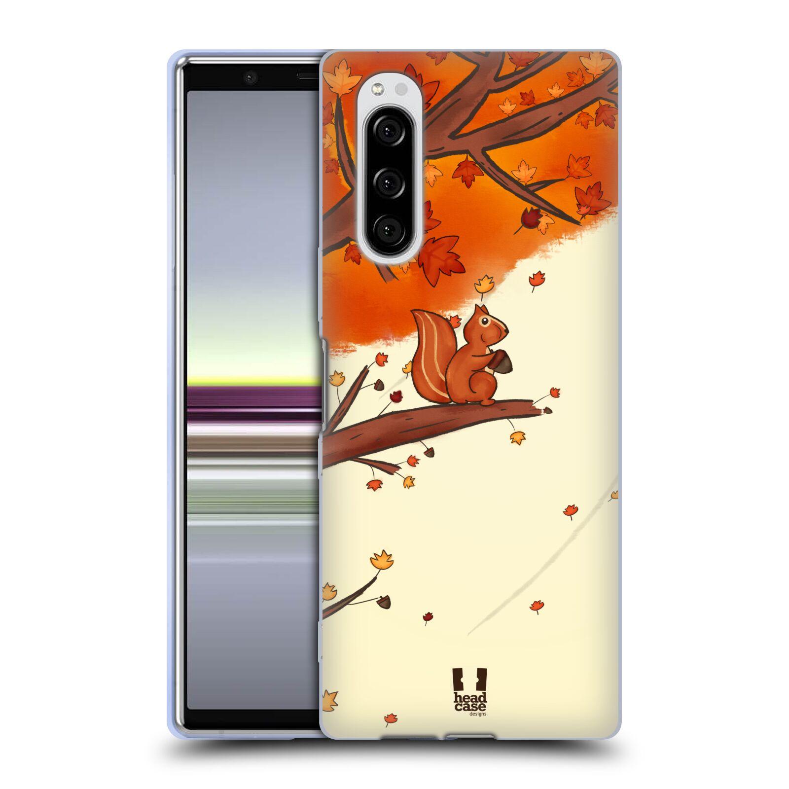 Silikonové pouzdro na mobil Sony Xperia 5 - Head Case - PODZIMNÍ VEVERKA