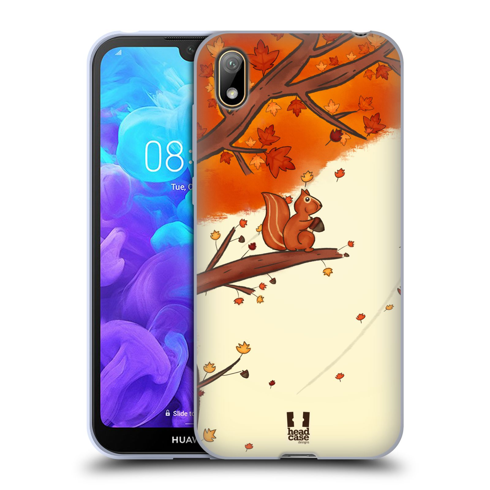 Silikonové pouzdro na mobil Huawei Y5 (2019) - Head Case - PODZIMNÍ VEVERKA