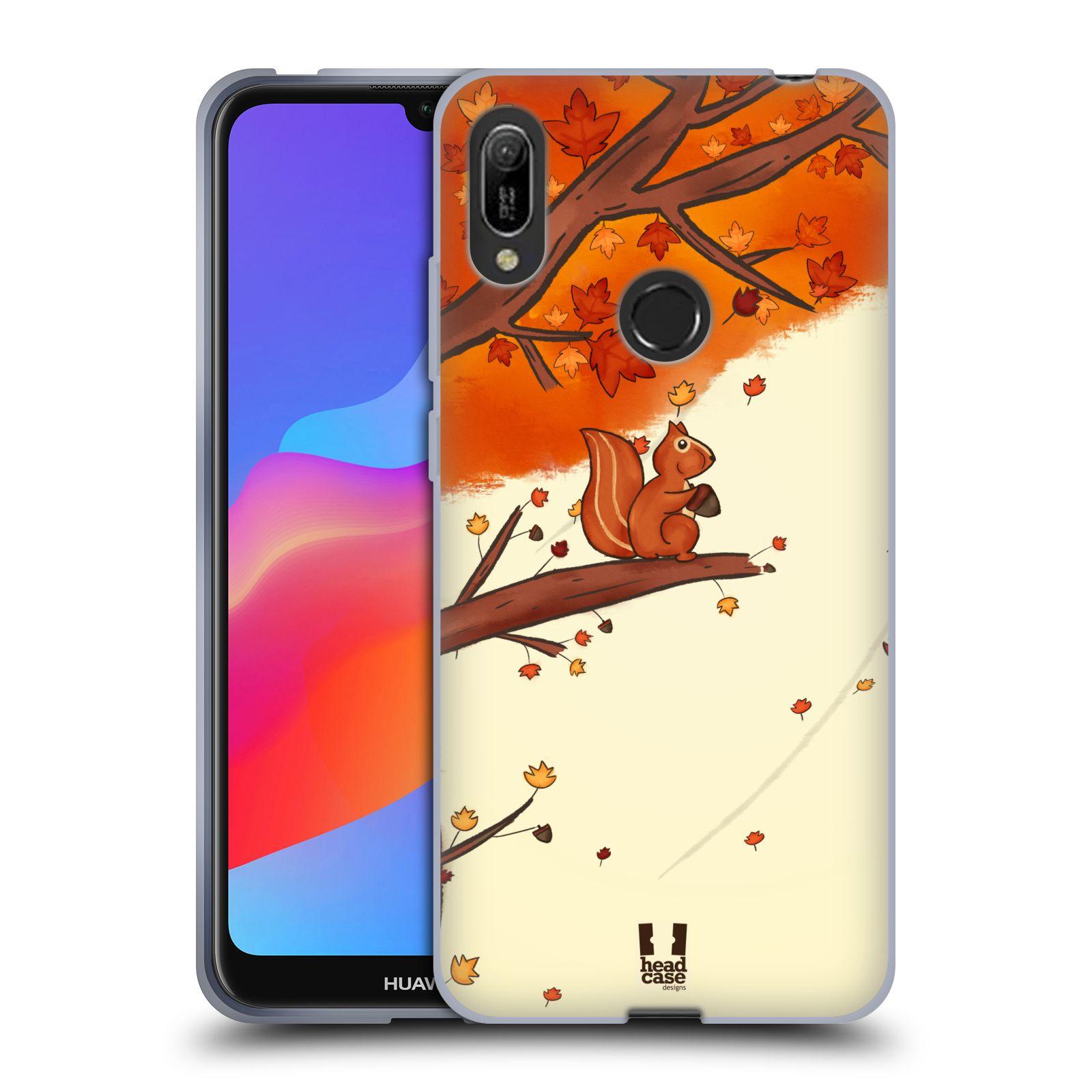 Silikonové pouzdro na mobil Huawei Y6 (2019) - Head Case - PODZIMNÍ VEVERKA