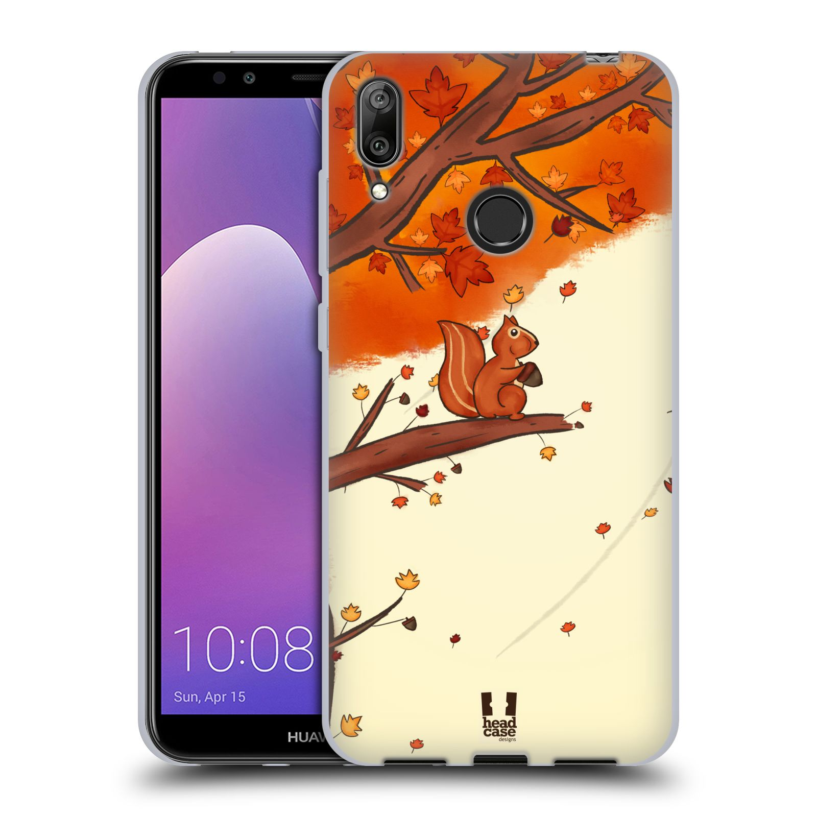 Silikonové pouzdro na mobil Huawei Y7 (2019) - Head Case - PODZIMNÍ VEVERKA