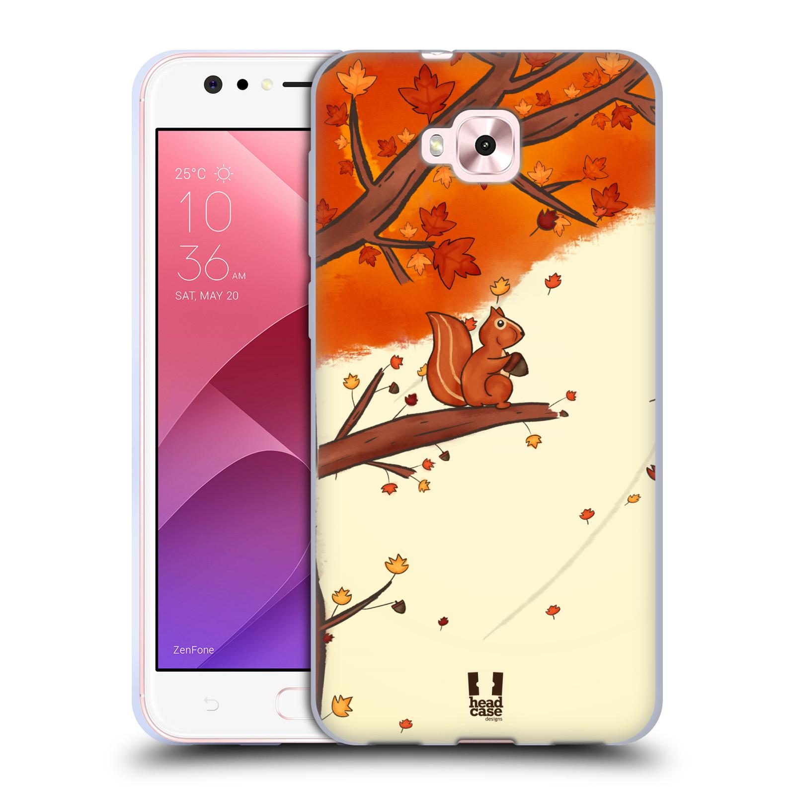 Silikonové pouzdro na mobil Asus Zenfone 4 Selfie ZD553KL - Head Case - PODZIMNÍ VEVERKA