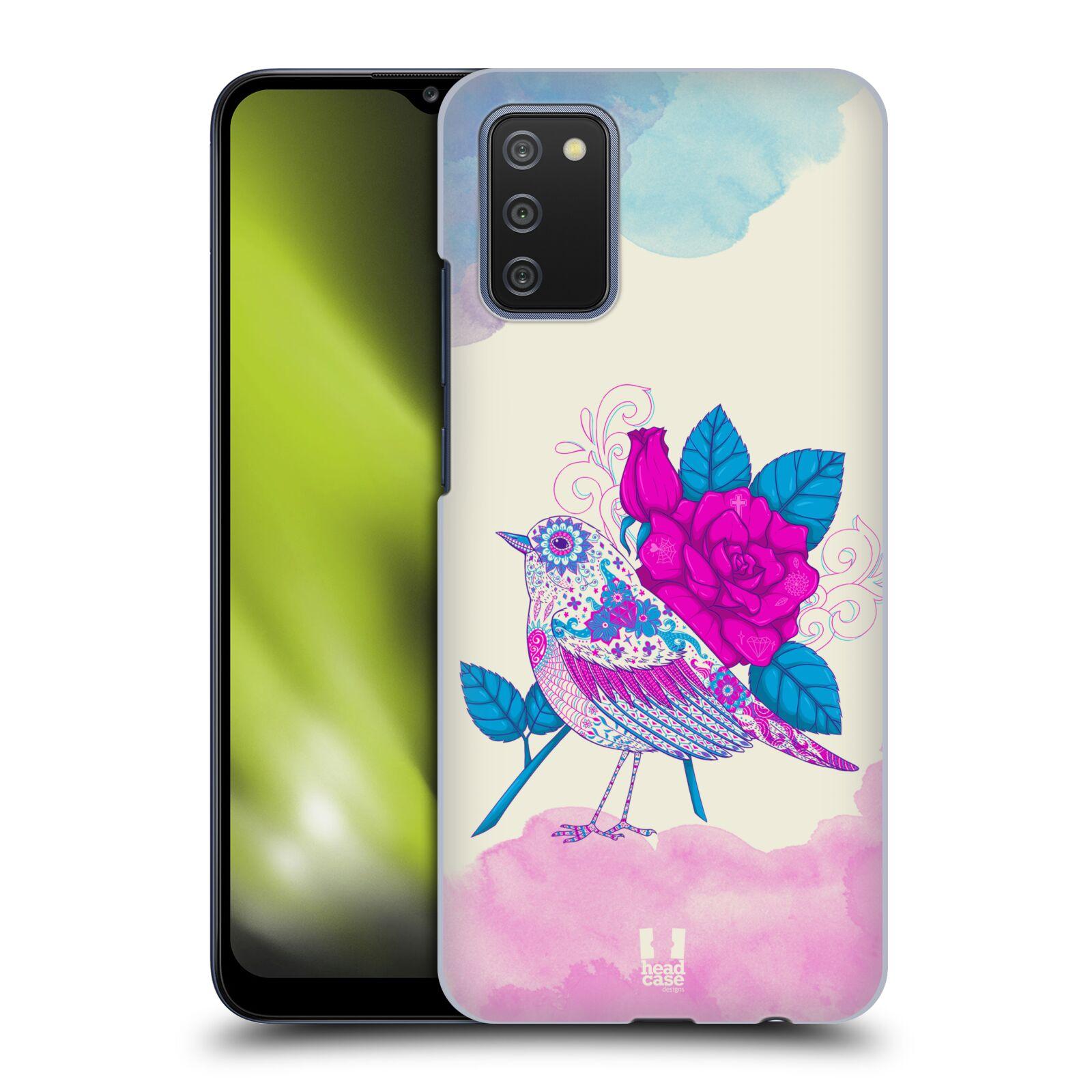 Plastové pouzdro na mobil Samsung Galaxy A02s - Head Case - PTÁČEK FUCHSIA