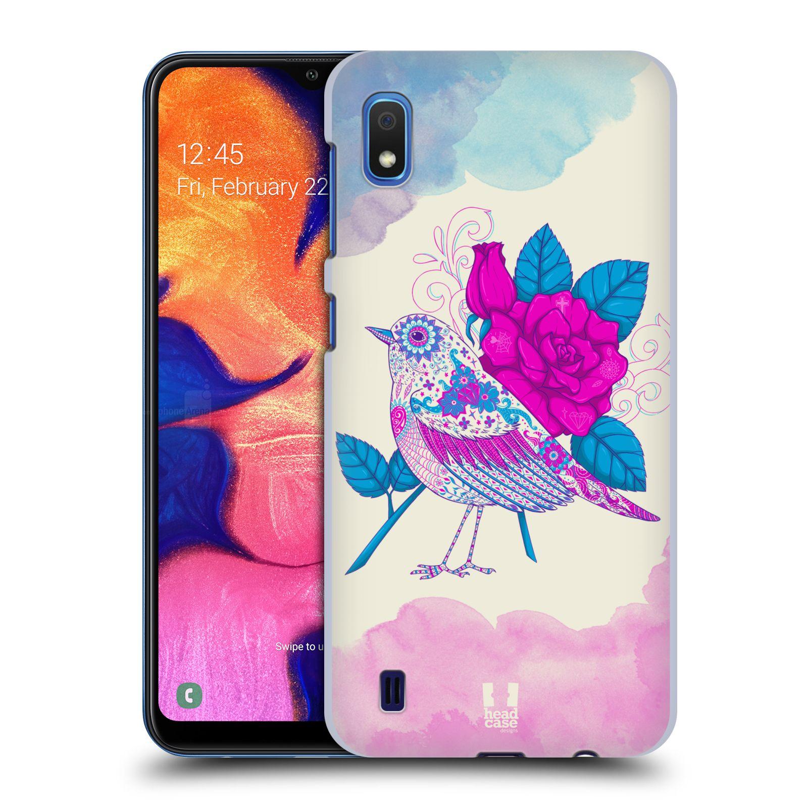Plastové pouzdro na mobil Samsung Galaxy A10 - Head Case - PTÁČEK FUCHSIA