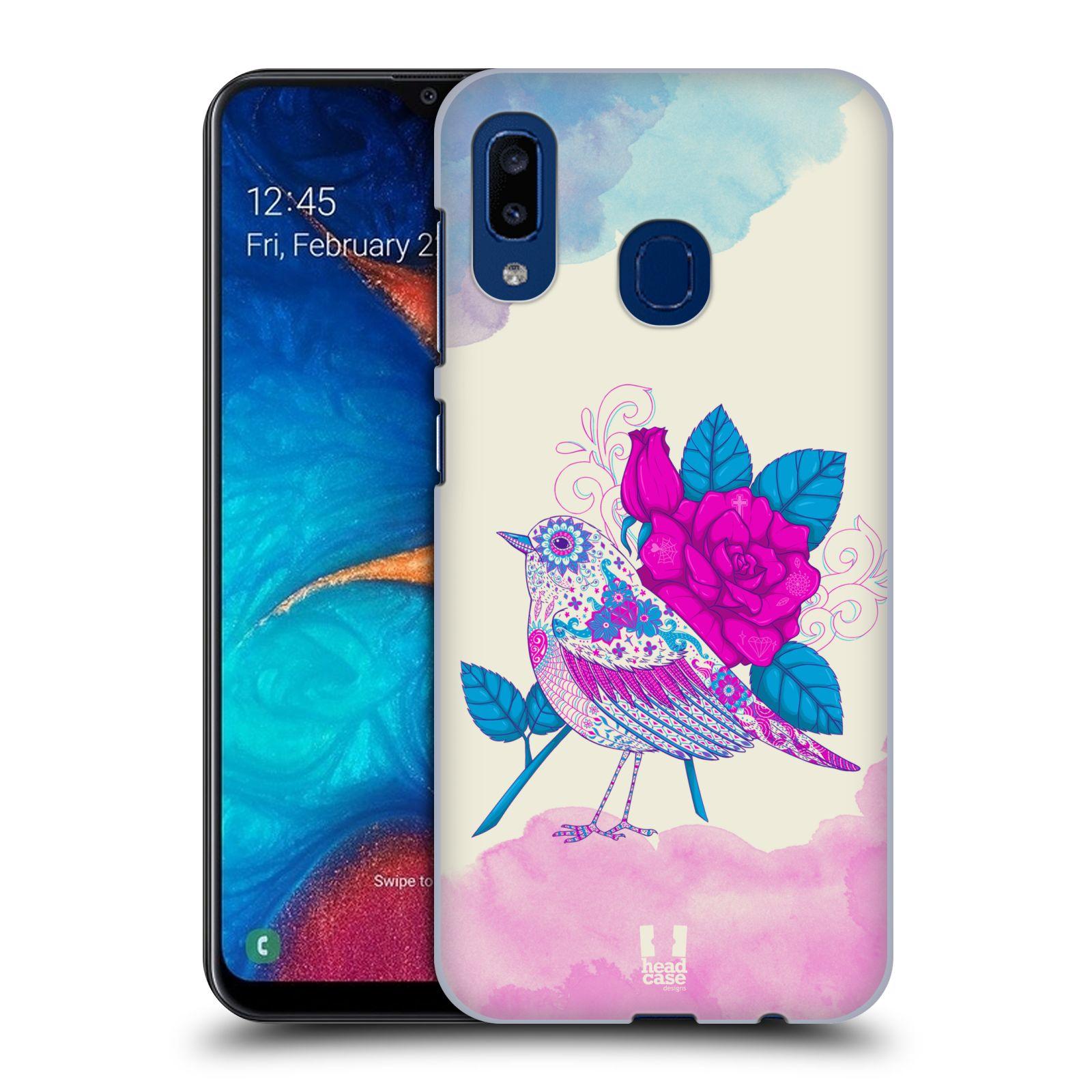 Plastové pouzdro na mobil Samsung Galaxy A20 - Head Case - PTÁČEK FUCHSIA