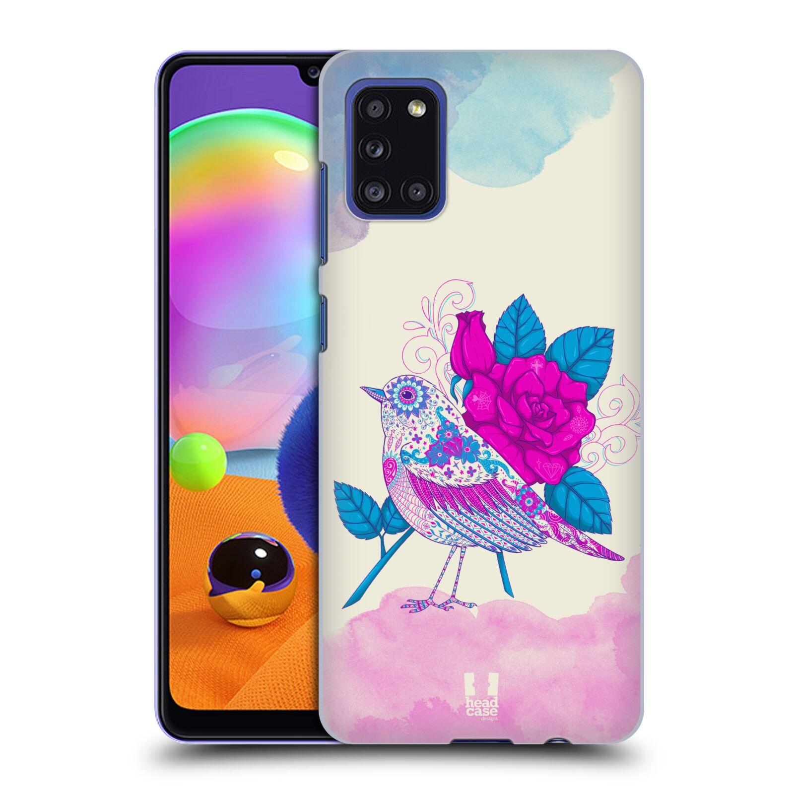 Plastové pouzdro na mobil Samsung Galaxy A31 - Head Case - PTÁČEK FUCHSIA