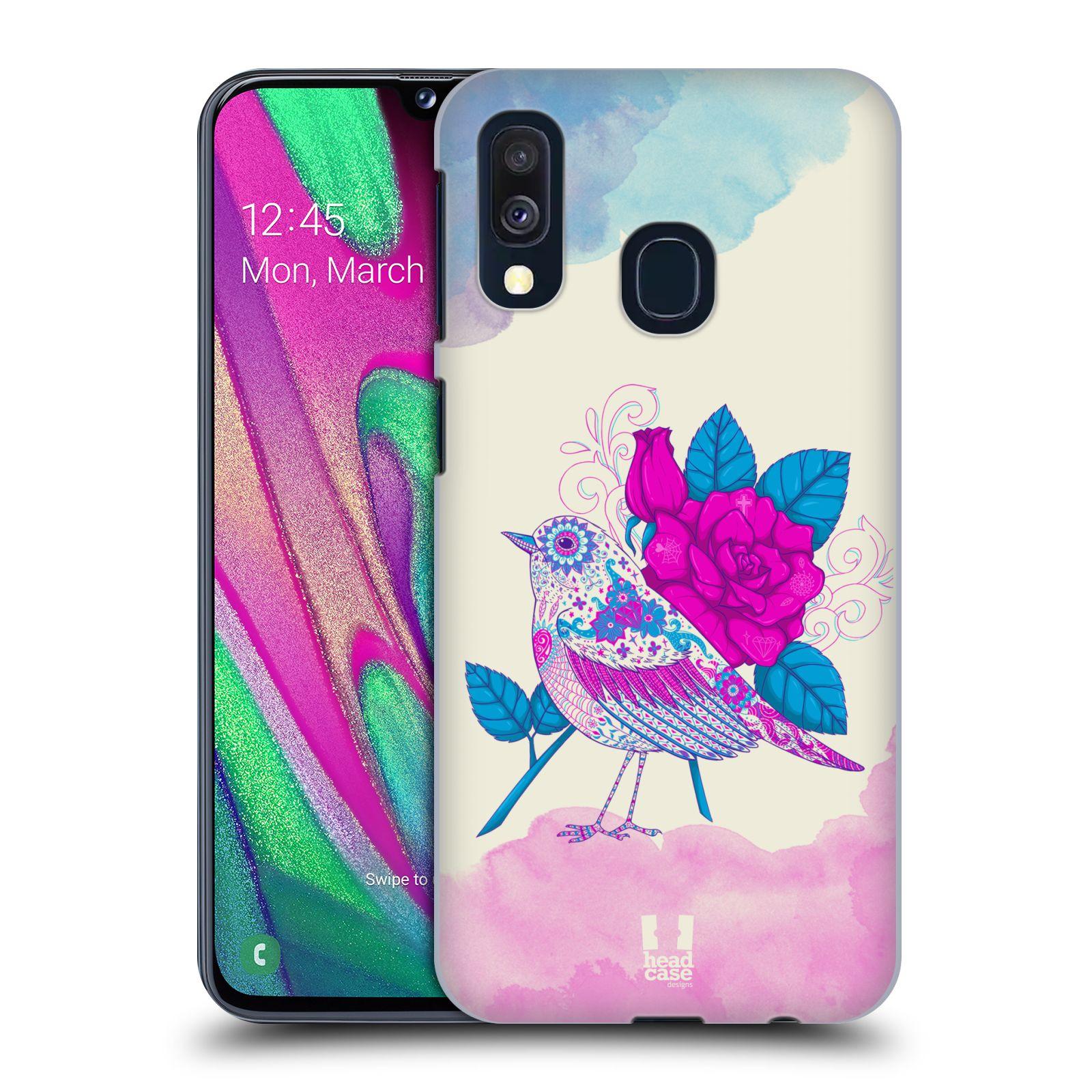 Plastové pouzdro na mobil Samsung Galaxy A40 - Head Case - PTÁČEK FUCHSIA