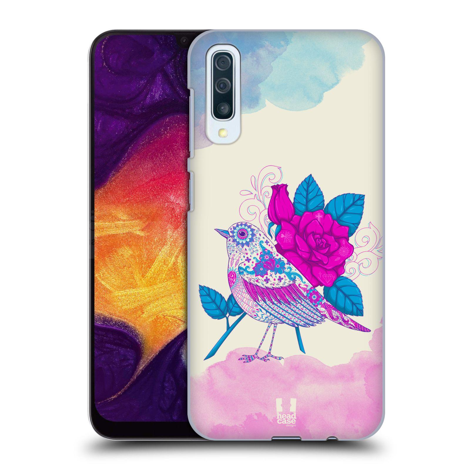 Plastové pouzdro na mobil Samsung Galaxy A50 - Head Case - PTÁČEK FUCHSIA