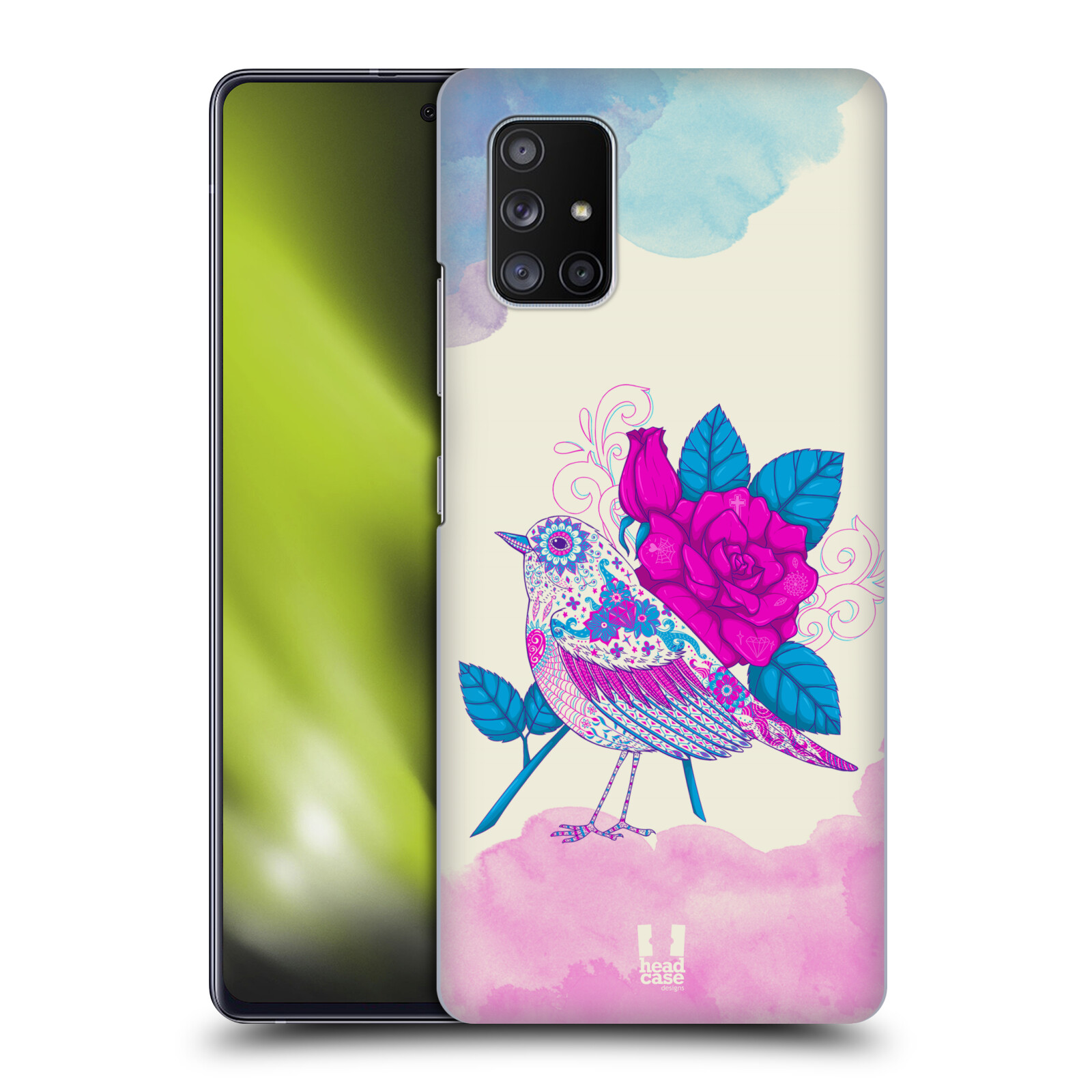 Plastové pouzdro na mobil Samsung Galaxy A51 5G - Head Case - PTÁČEK FUCHSIA