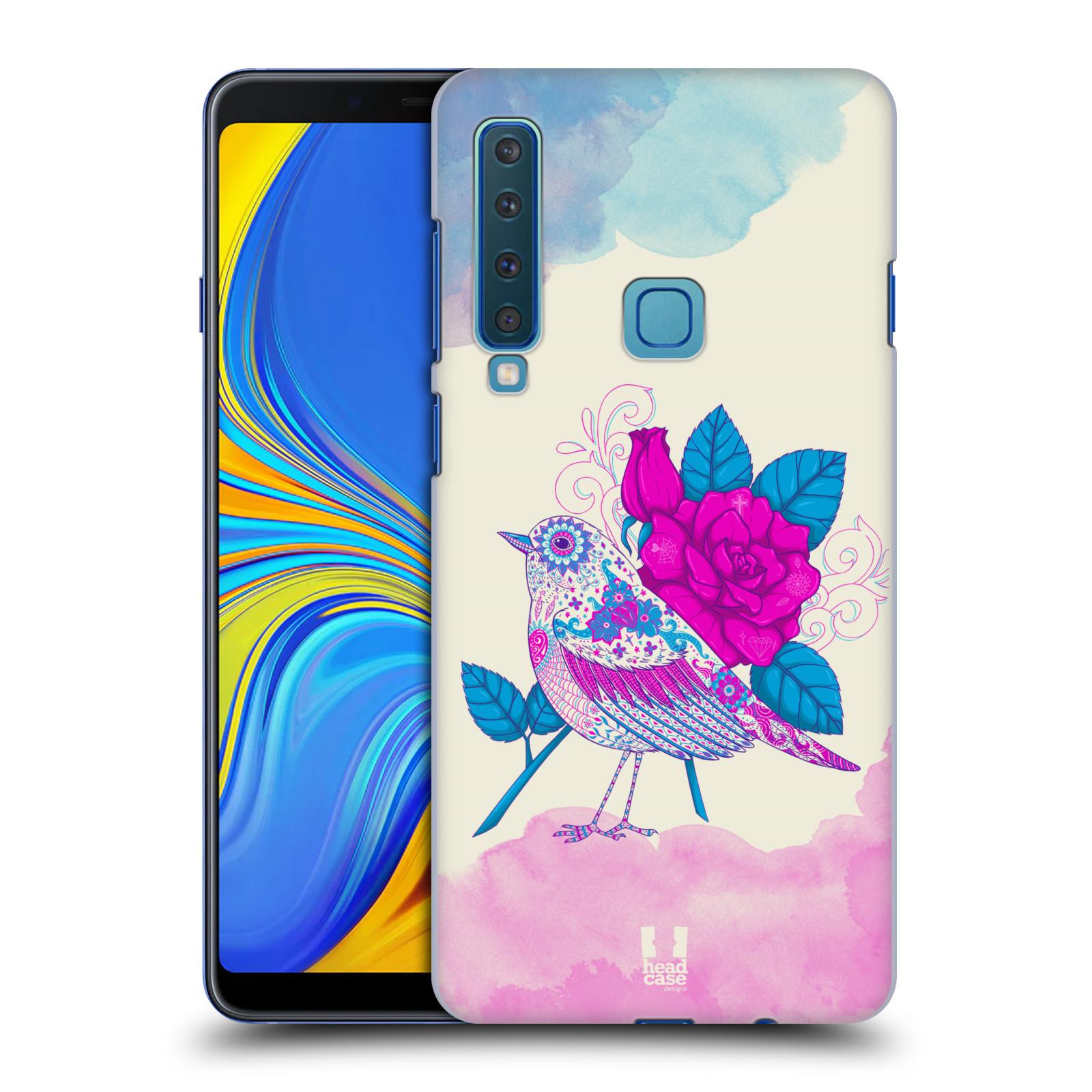 Plastové pouzdro na mobil Samsung Galaxy A9 (2018) - Head Case - PTÁČEK FUCHSIA