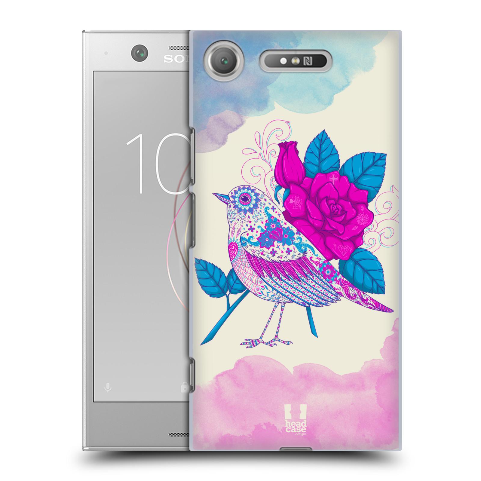 Plastové pouzdro na mobil Sony Xperia XZ1 - Head Case - PTÁČEK FUCHSIA