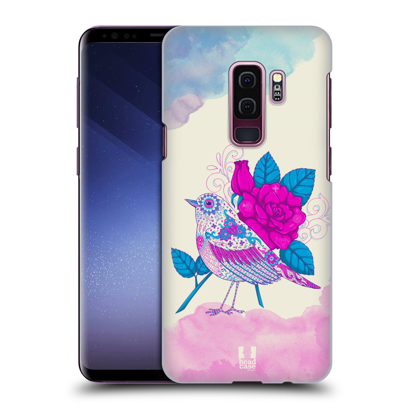 Plastové pouzdro na mobil Samsung Galaxy S9 Plus - Head Case - PTÁČEK FUCHSIA