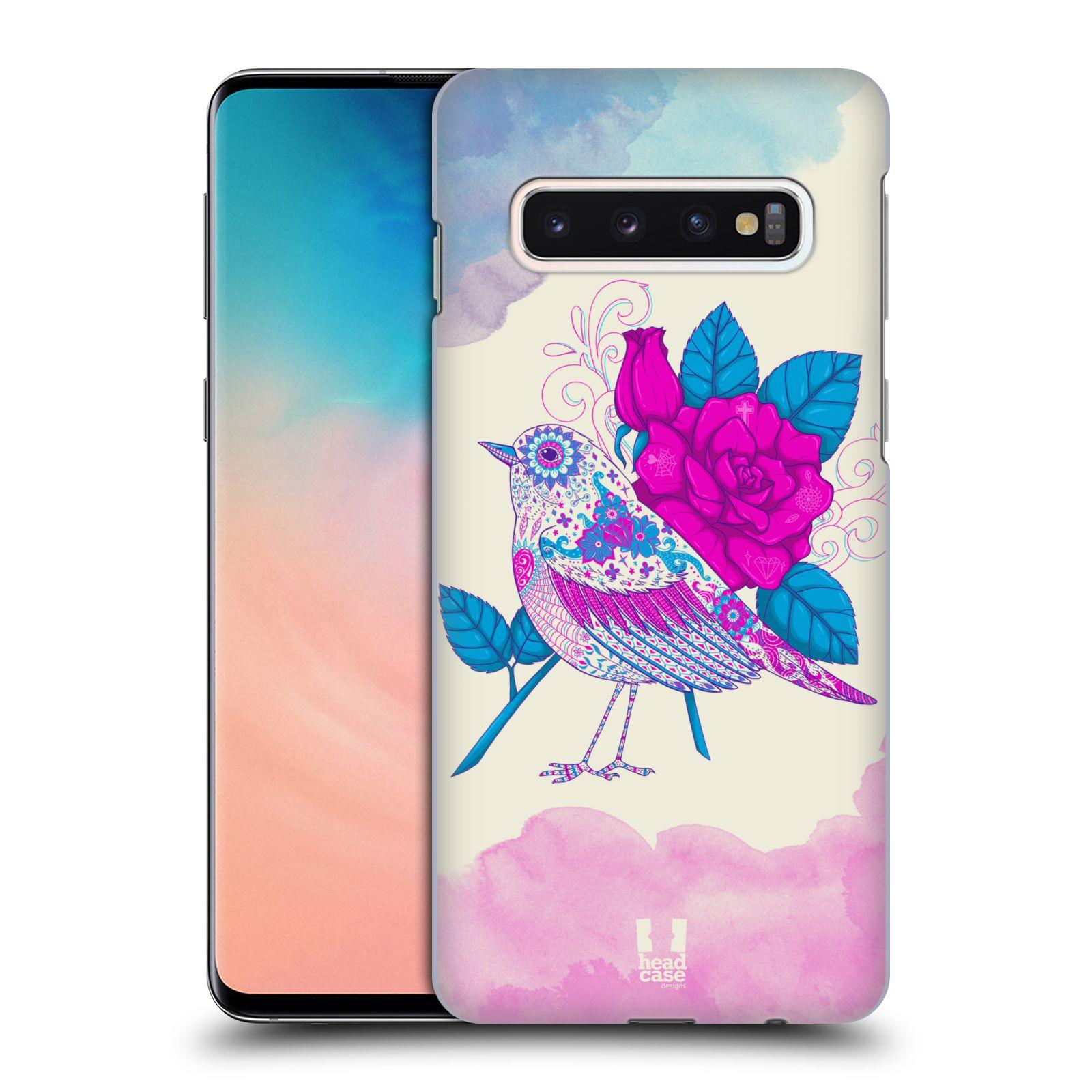 Plastové pouzdro na mobil Samsung Galaxy S10 - Head Case - PTÁČEK FUCHSIA