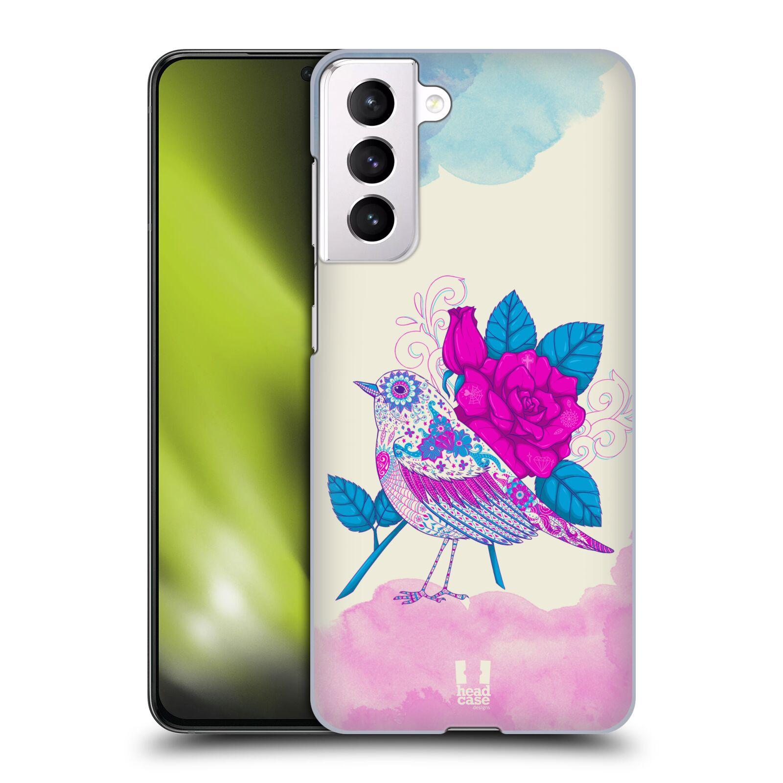 Plastové pouzdro na mobil Samsung Galaxy S21 5G - Head Case - PTÁČEK FUCHSIA
