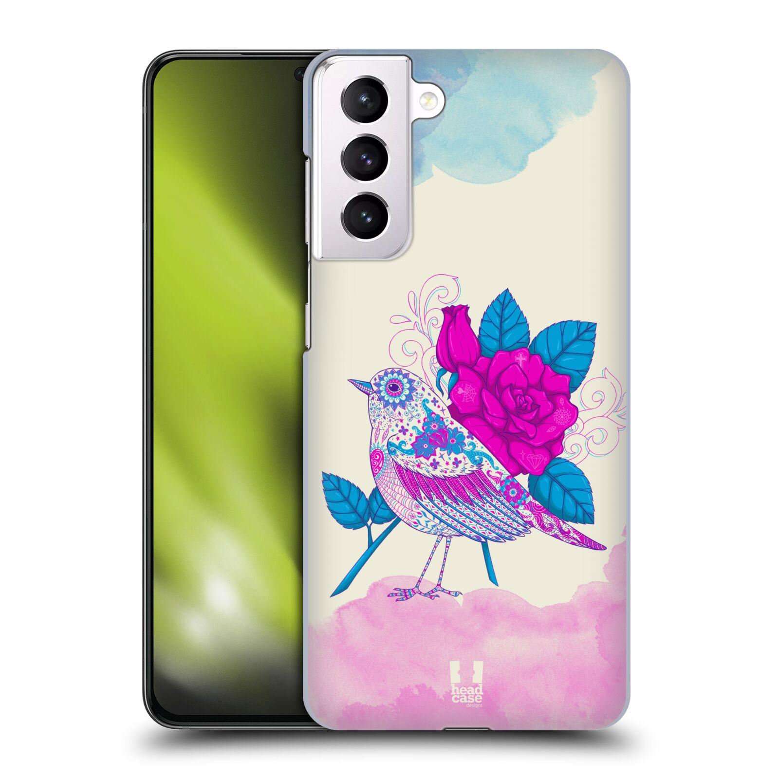 Plastové pouzdro na mobil Samsung Galaxy S21 Plus 5G - Head Case - PTÁČEK FUCHSIA