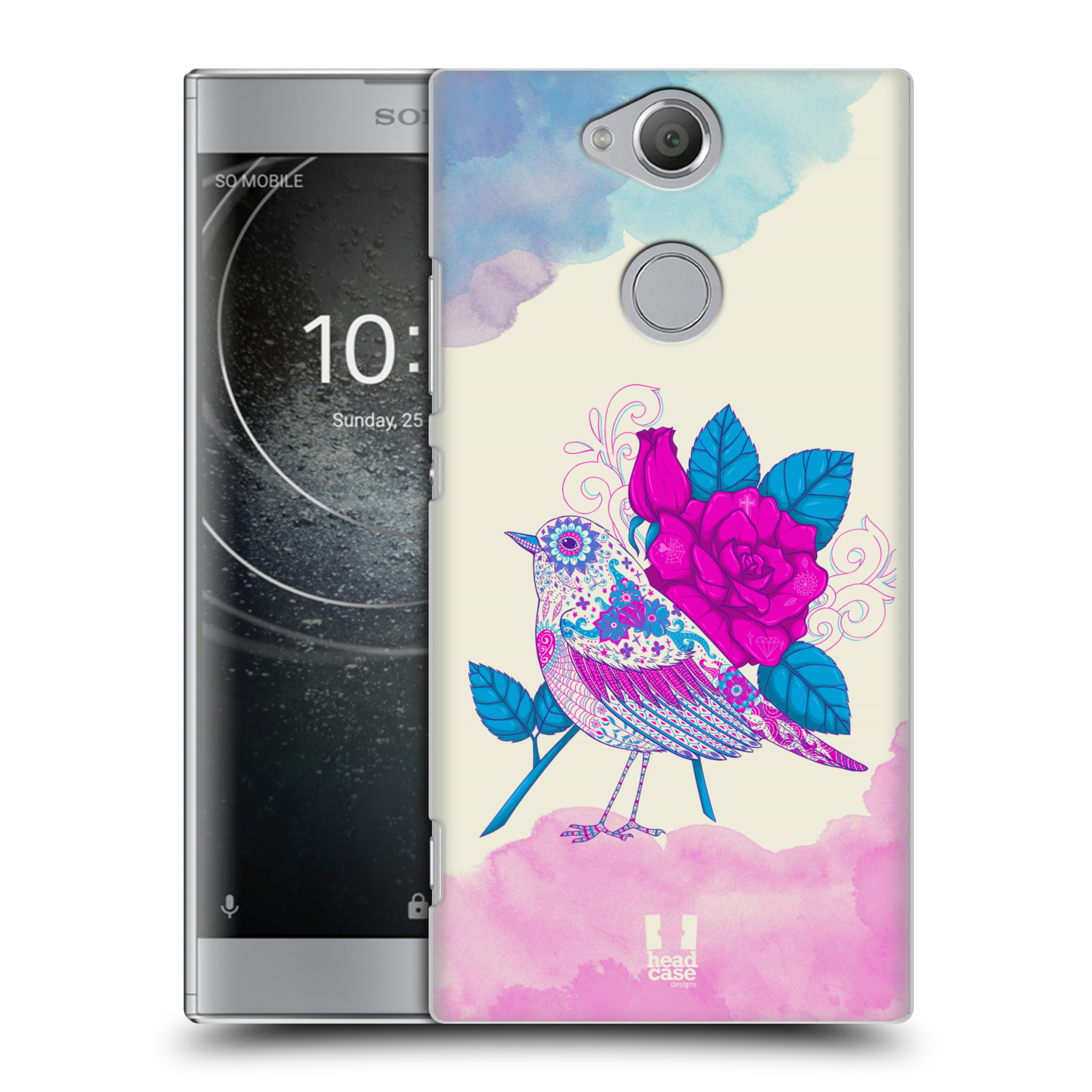 Plastové pouzdro na mobil Sony Xperia XA2 - Head Case - PTÁČEK FUCHSIA