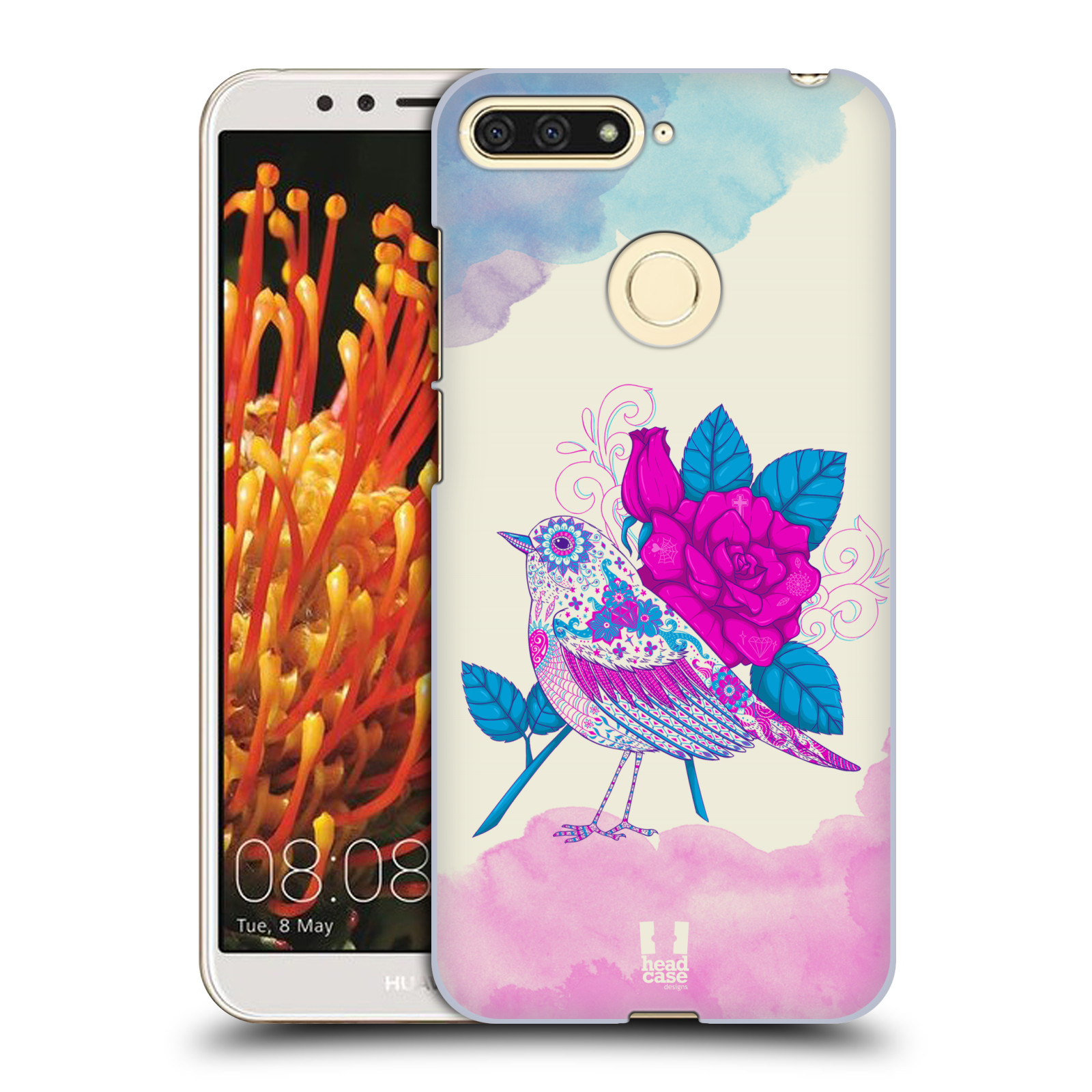 Plastové pouzdro na mobil Huawei Y6 Prime 2018 - Head Case - PTÁČEK FUCHSIA
