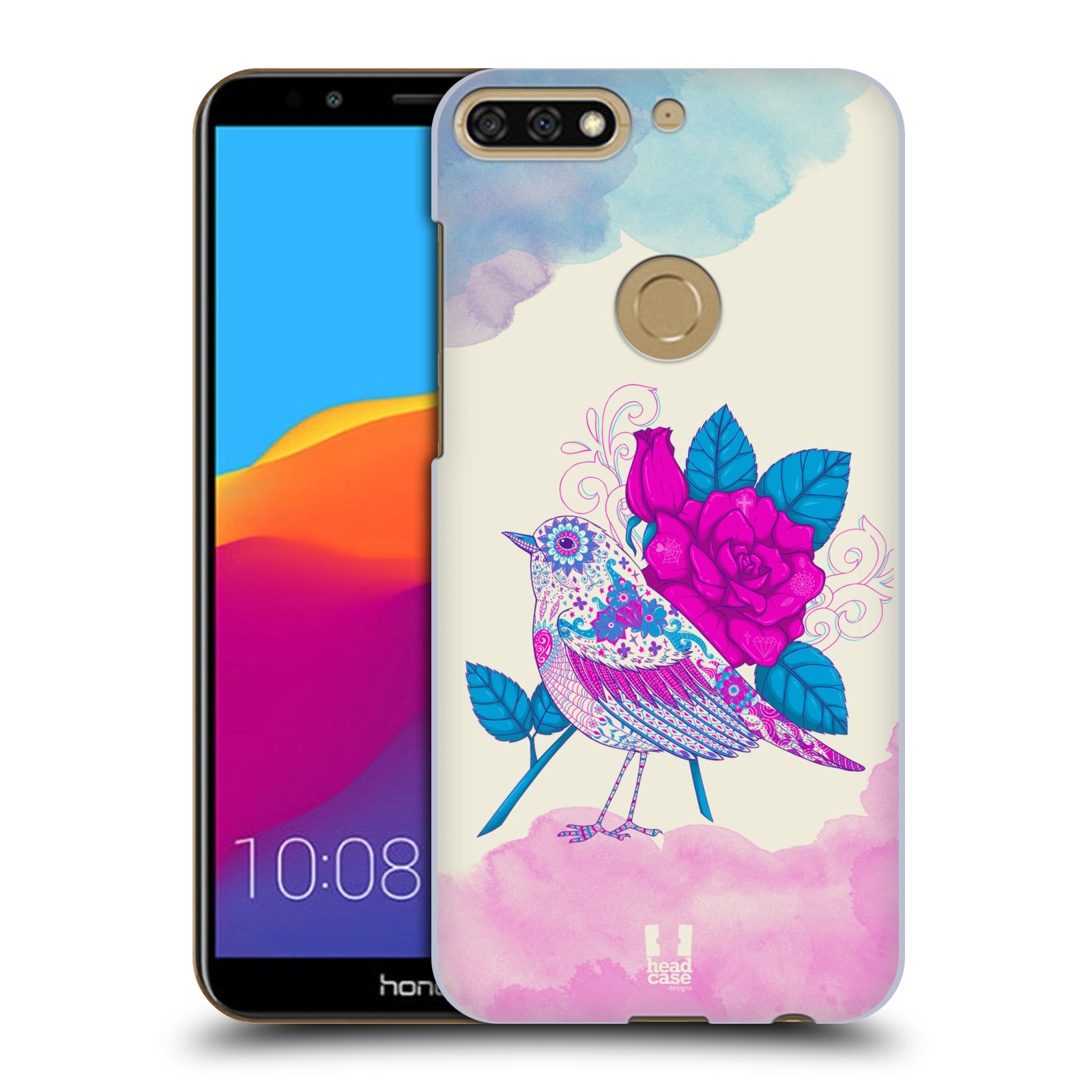 Plastové pouzdro na mobil Huawei Y7 Prime 2018 - Head Case - PTÁČEK FUCHSIA