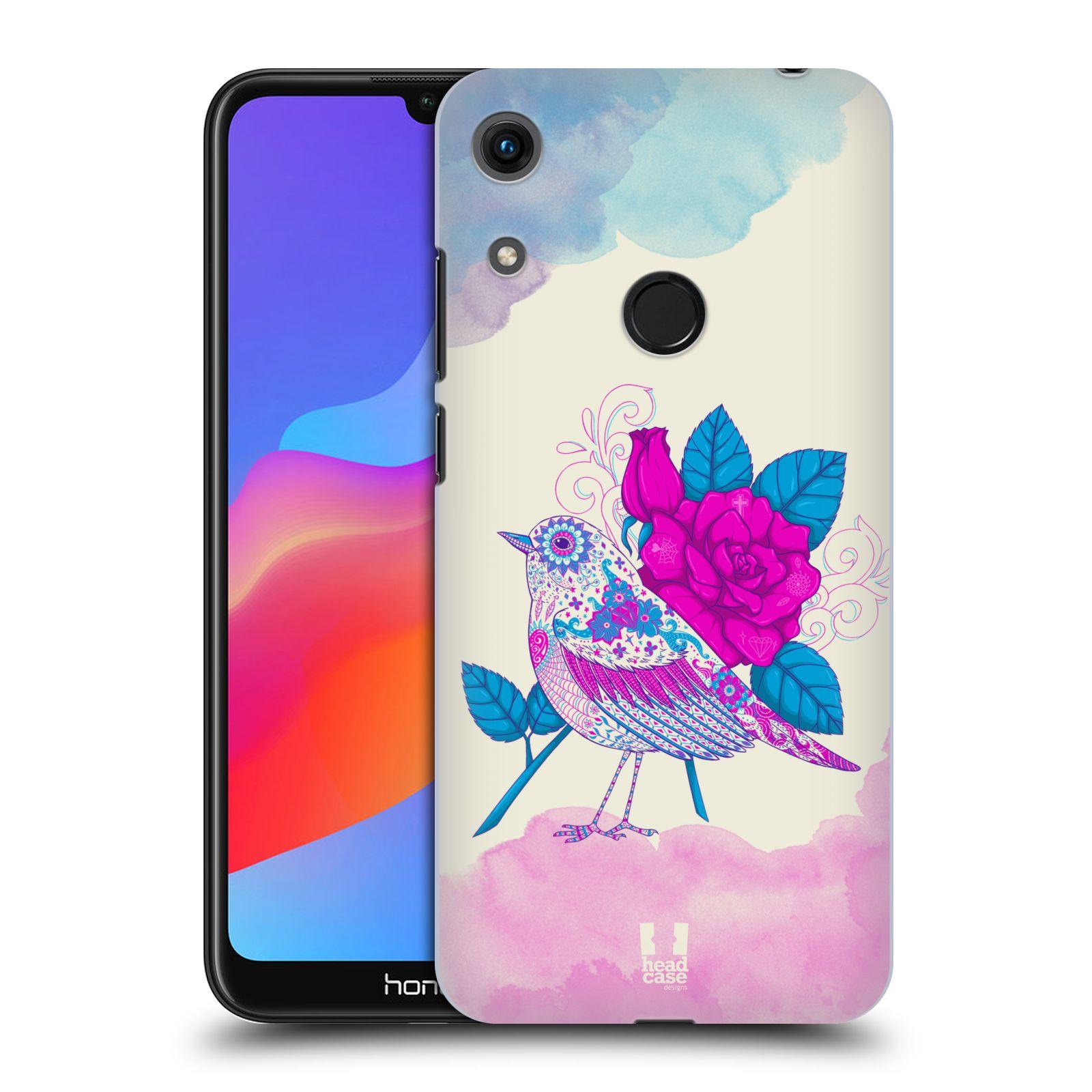 Plastové pouzdro na mobil Honor 8A - Head Case - PTÁČEK FUCHSIA