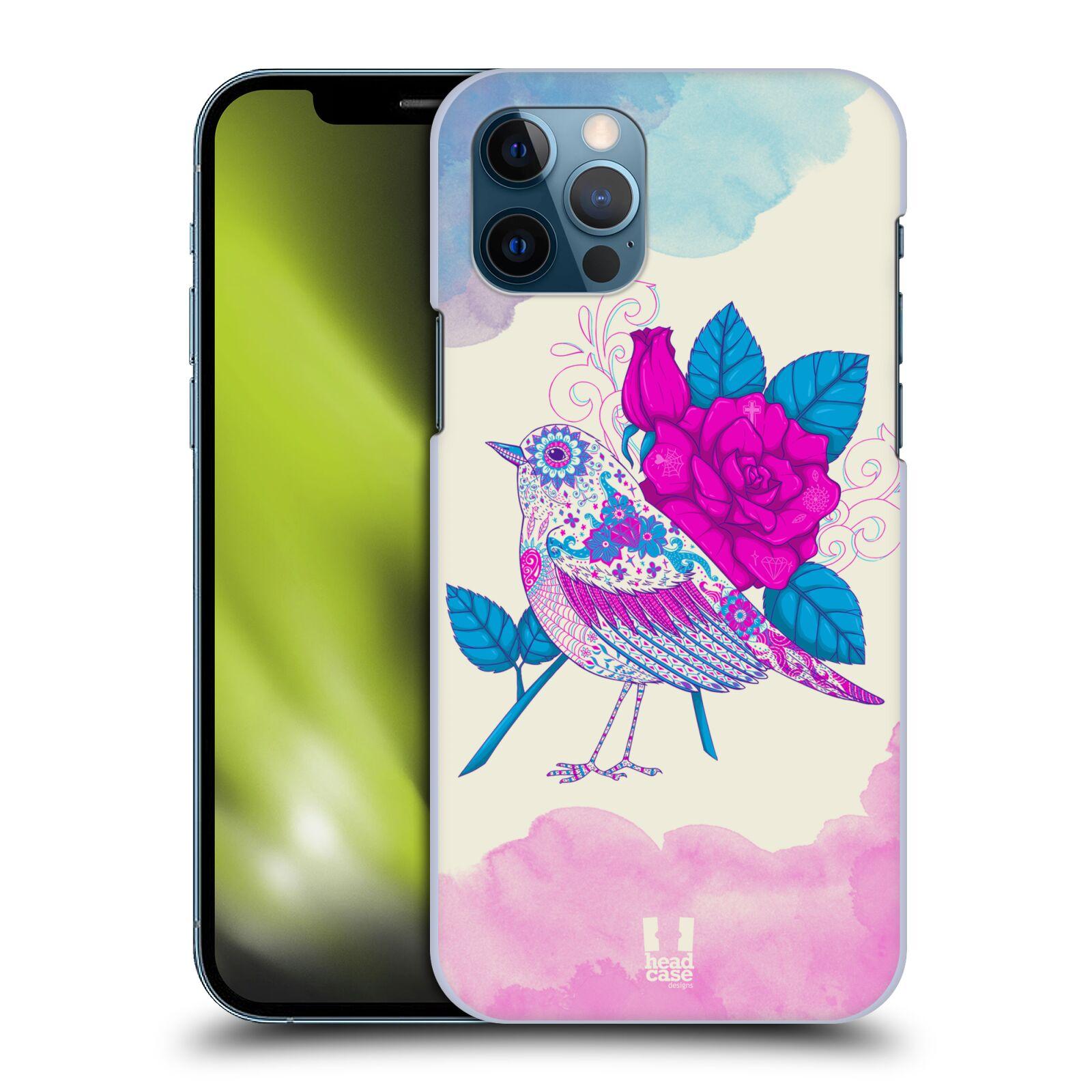 Plastové pouzdro na mobil Apple iPhone 12 / 12 Pro - Head Case - PTÁČEK FUCHSIA