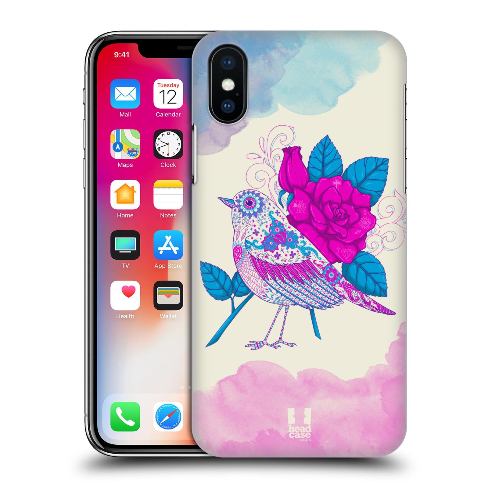 Plastové pouzdro na mobil Apple iPhone X - Head Case - PTÁČEK FUCHSIA