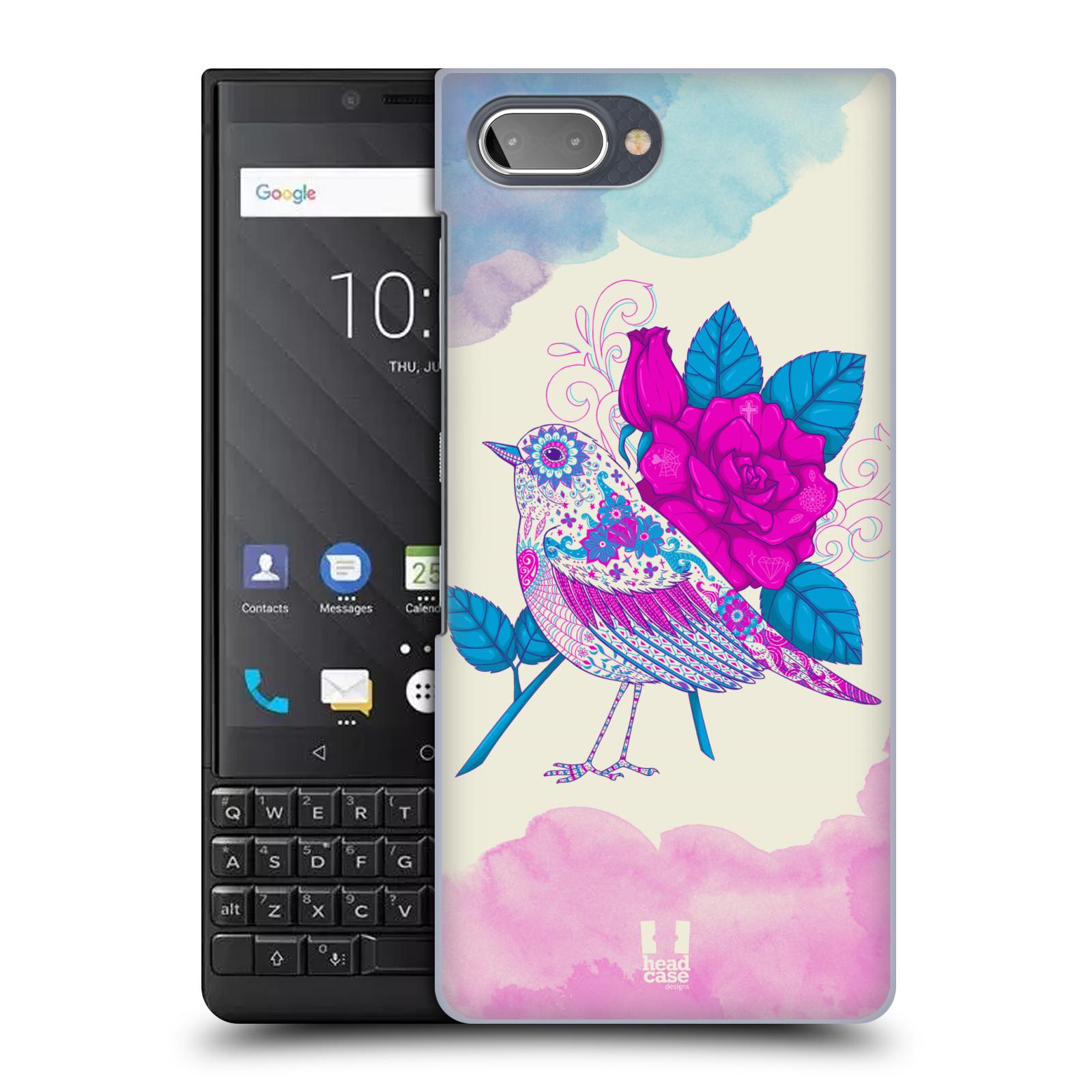 Plastové pouzdro na mobil Blackberry Key 2 - Head Case - PTÁČEK FUCHSIA